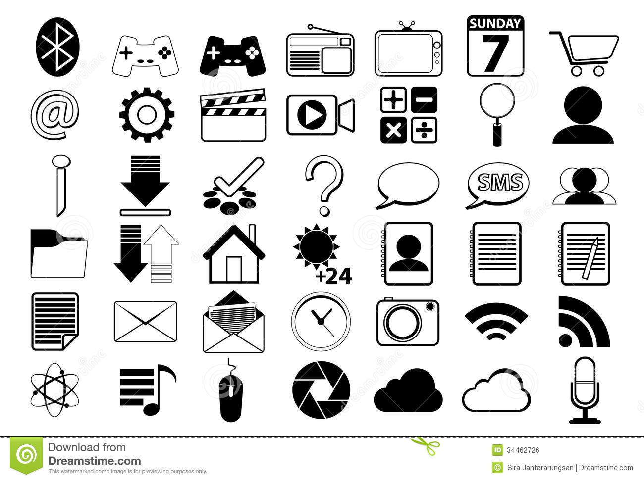 icon for web black and white stock vector