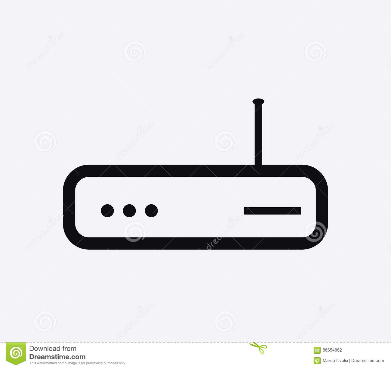 Icon Wifi Router Illustrated Stock Illustration - Illustration of ...
