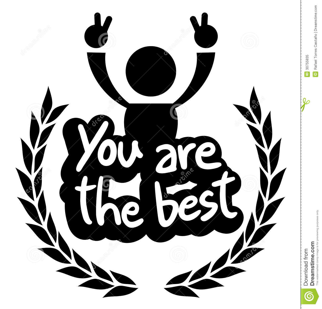 icon you are the best royalty free stock photo image football clipart free black and white football clipart free black and white