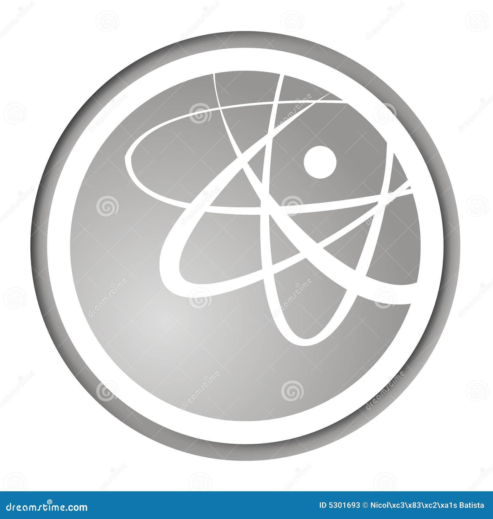 Download Icona atomica di modo illustrazione di stock. Illustrazione di pericolo - 5301693