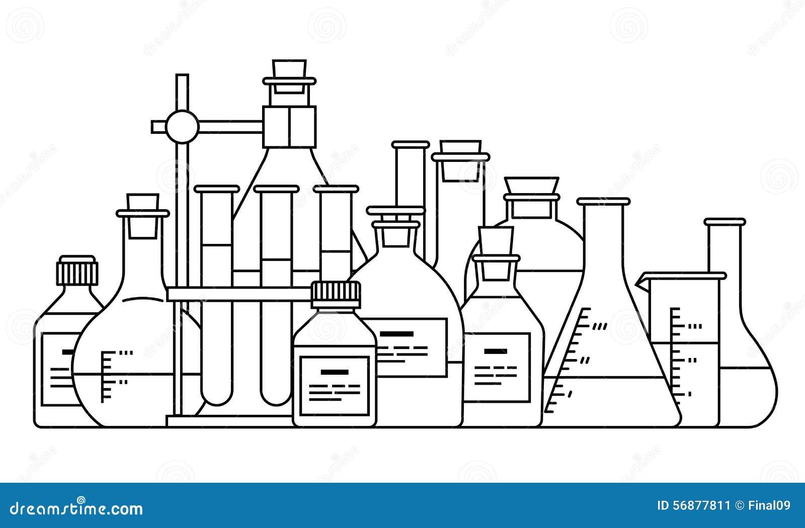 Icona chimica della cristalleria