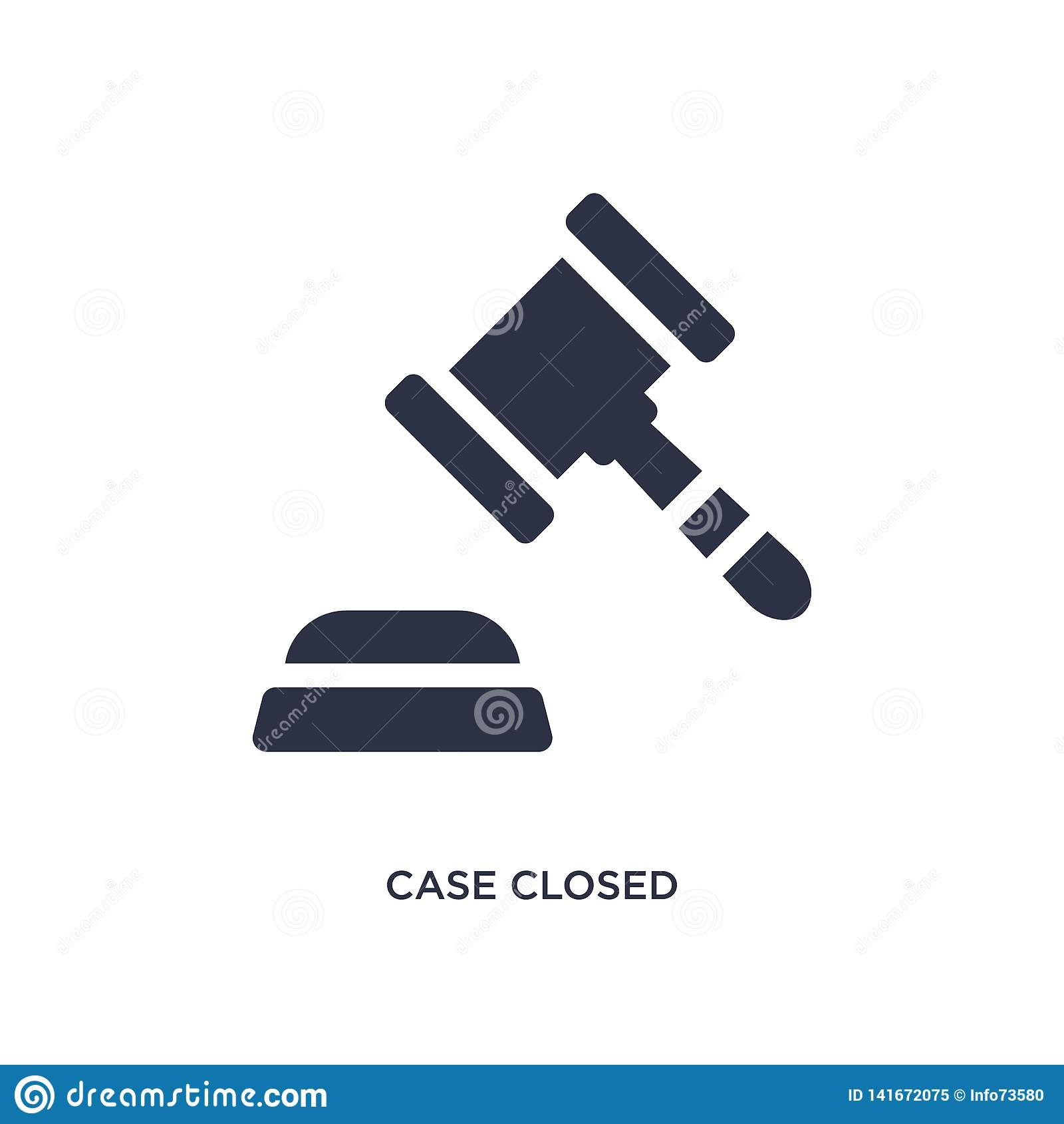 Icona chiusa di caso su fondo bianco Illustrazione semplice dell elemento dal concetto della giustizia e di legge