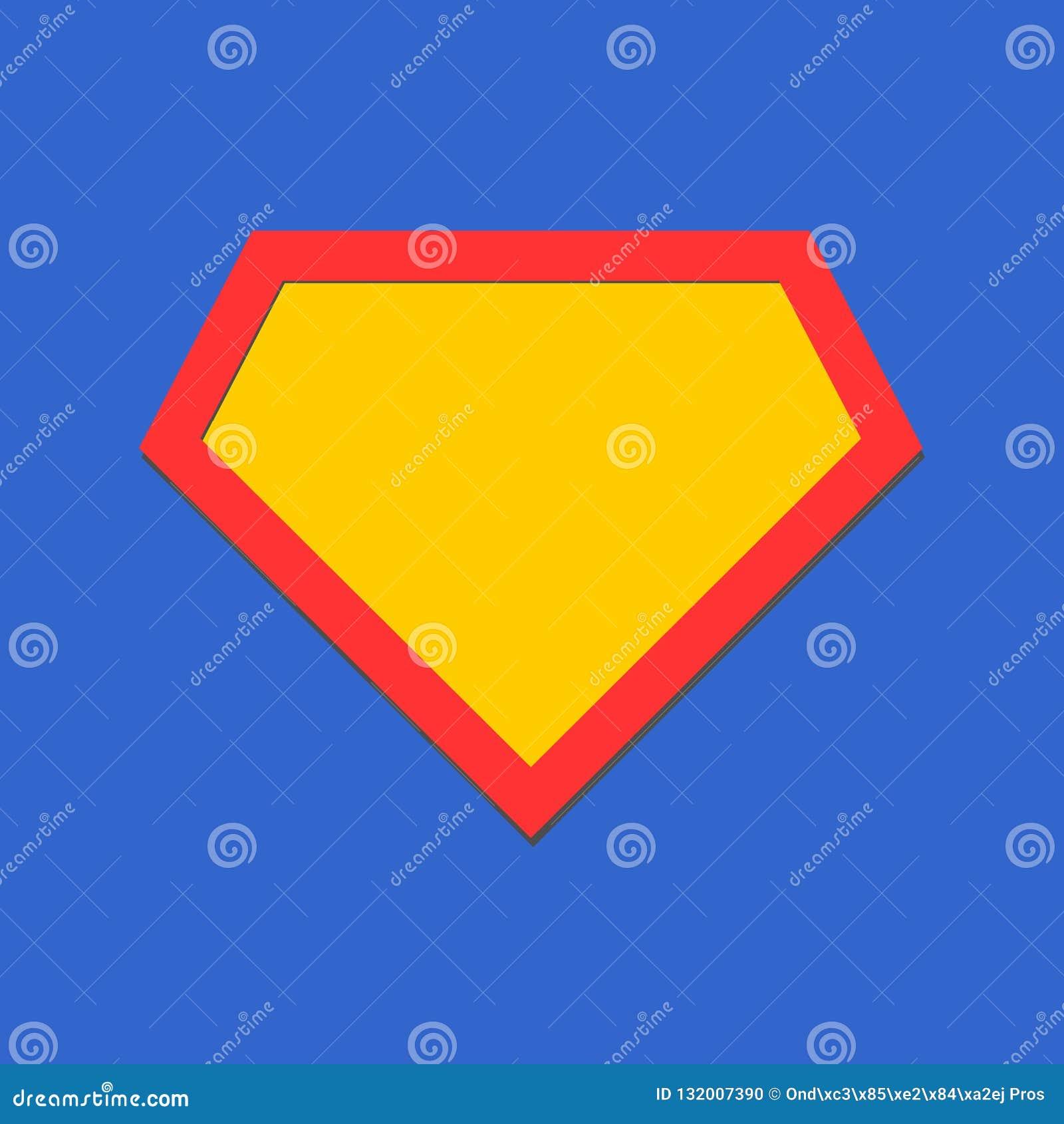 Icona comica dell eroe, schermo di simbolo Vettore isolato su fondo blu