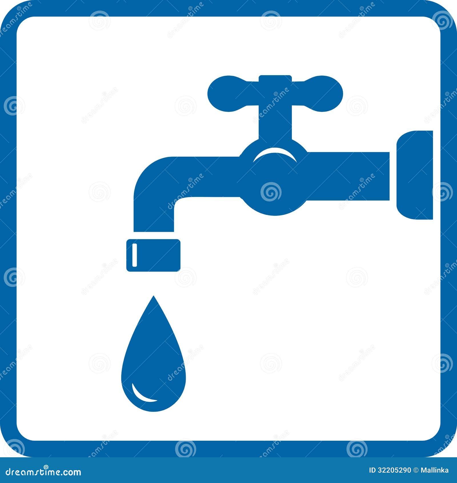 Icona con il rubinetto e la goccia