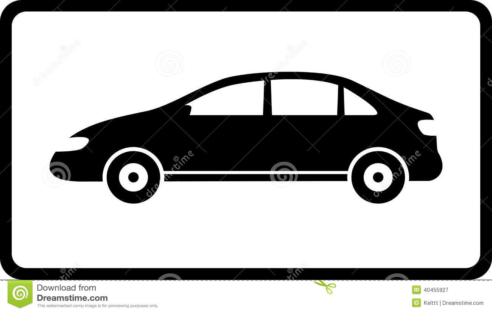 Icona con la siluetta nera dell automobile