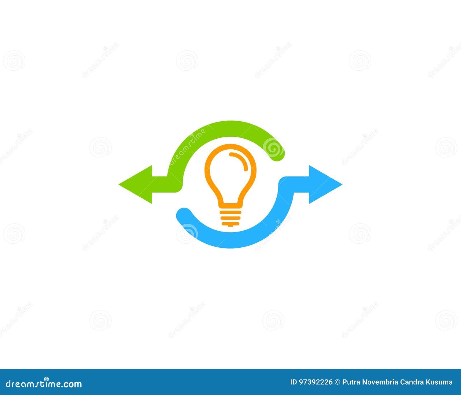 Icona creativa Logo Design Element della parte di idea