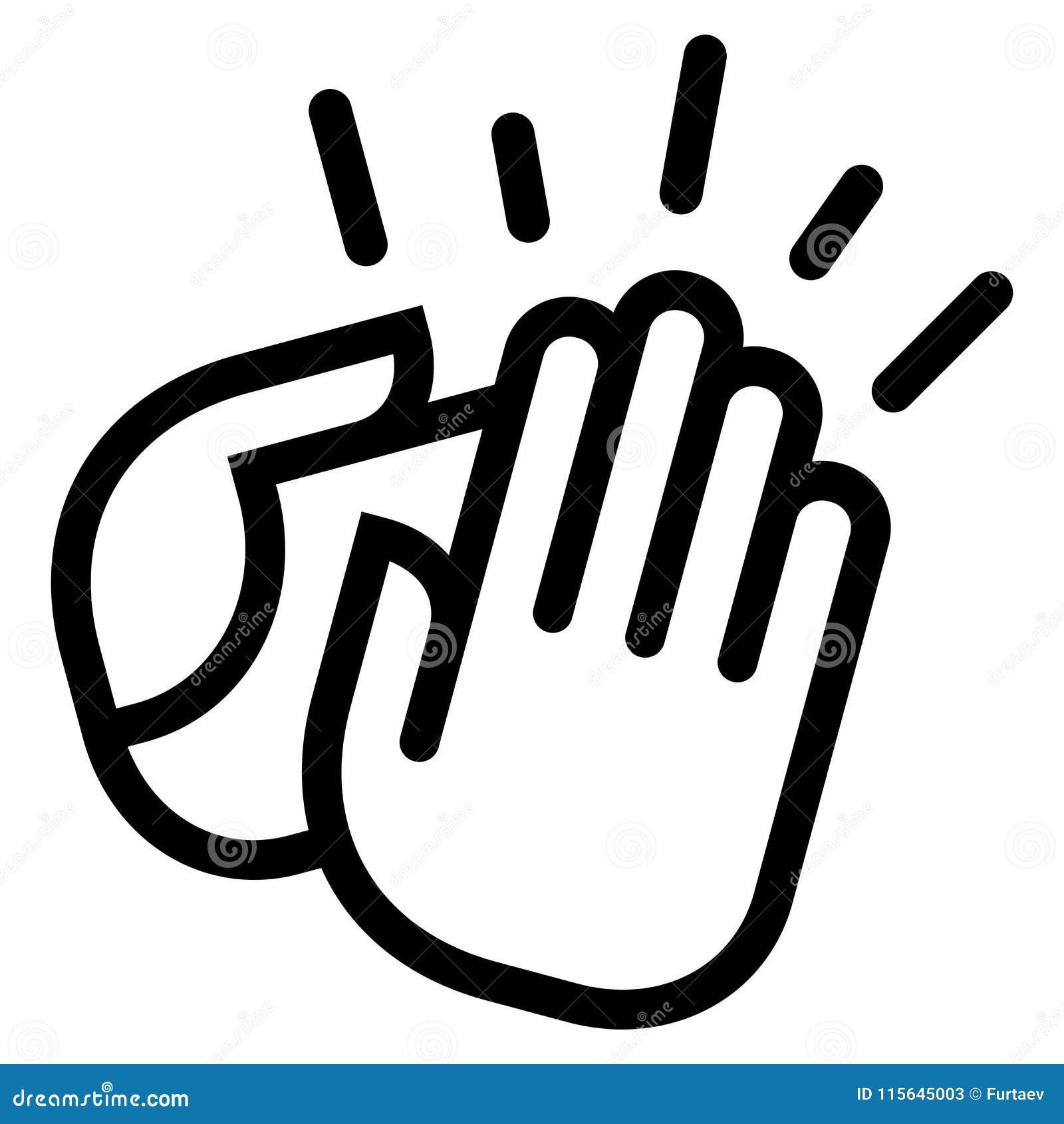 Icona d applauso delle mani