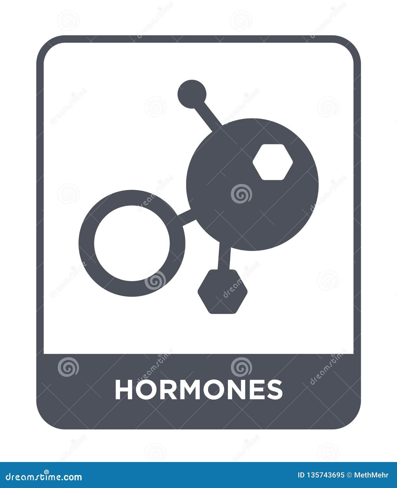Icona degli ormoni nello stile d avanguardia di progettazione icona degli ormoni isolata su fondo bianco piano semplice e moderno