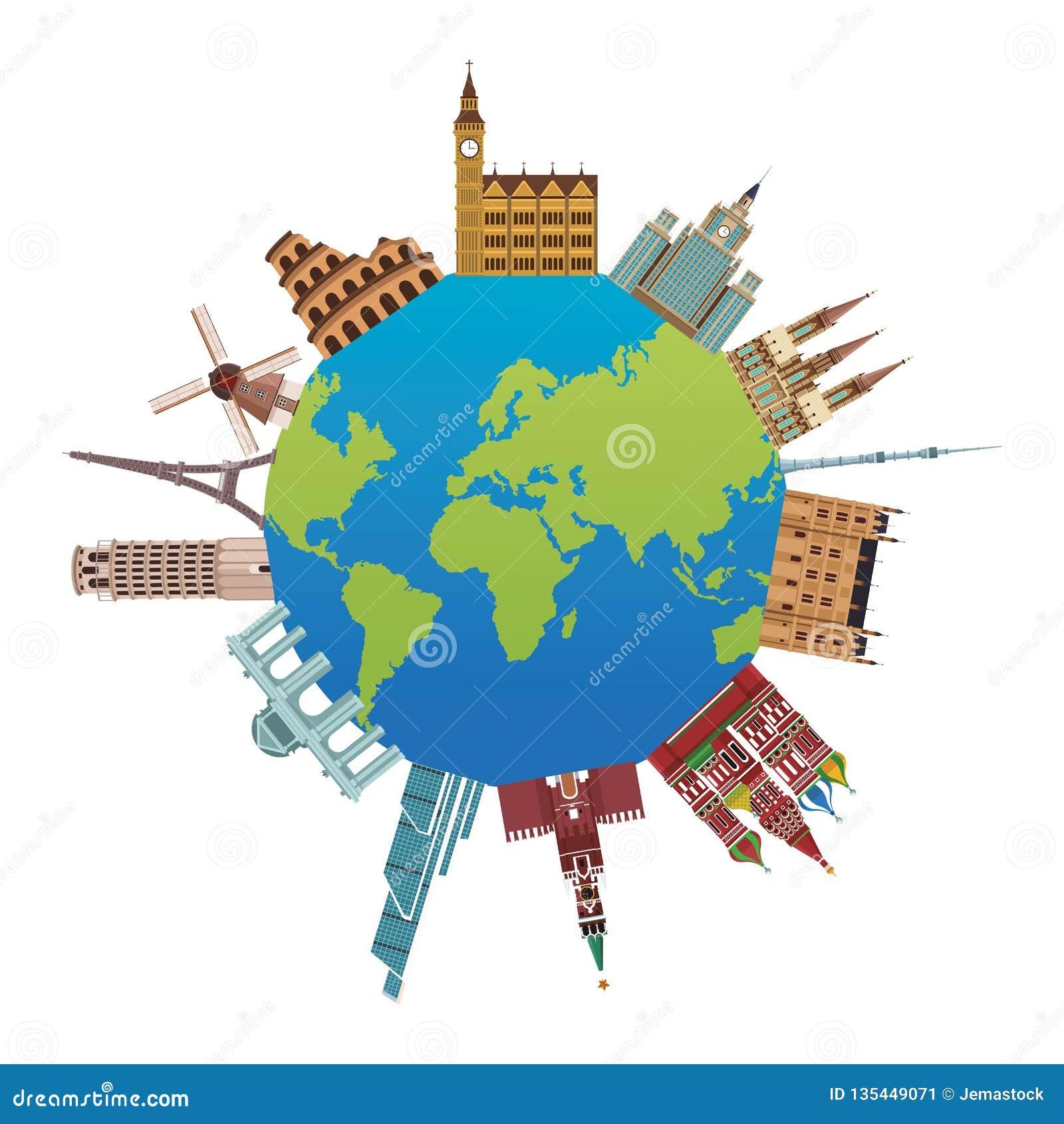 Icona dei monumenti del mondo