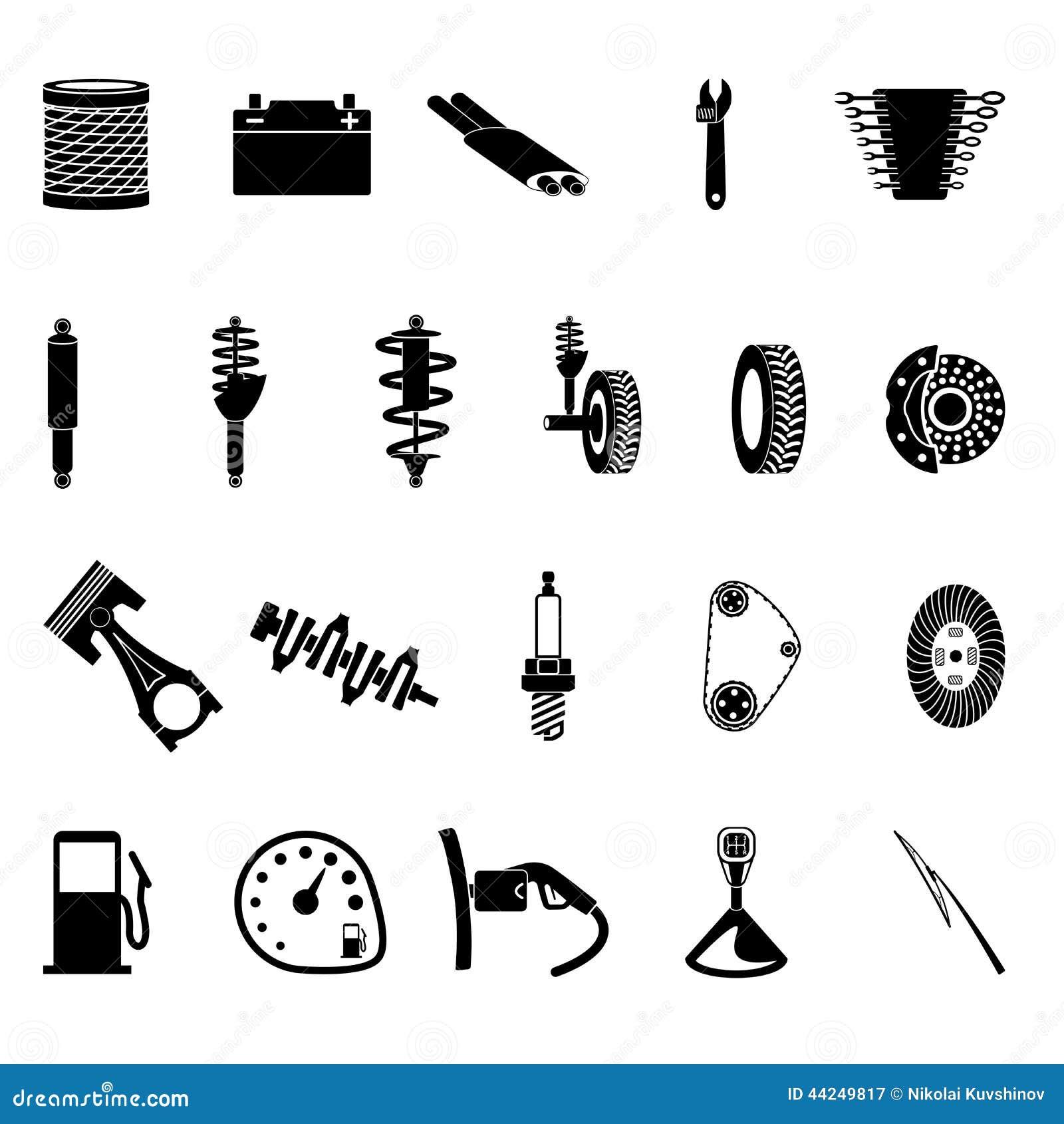 Illustrazione Di Stock Icona Dei Ricambi Auto Image44249817