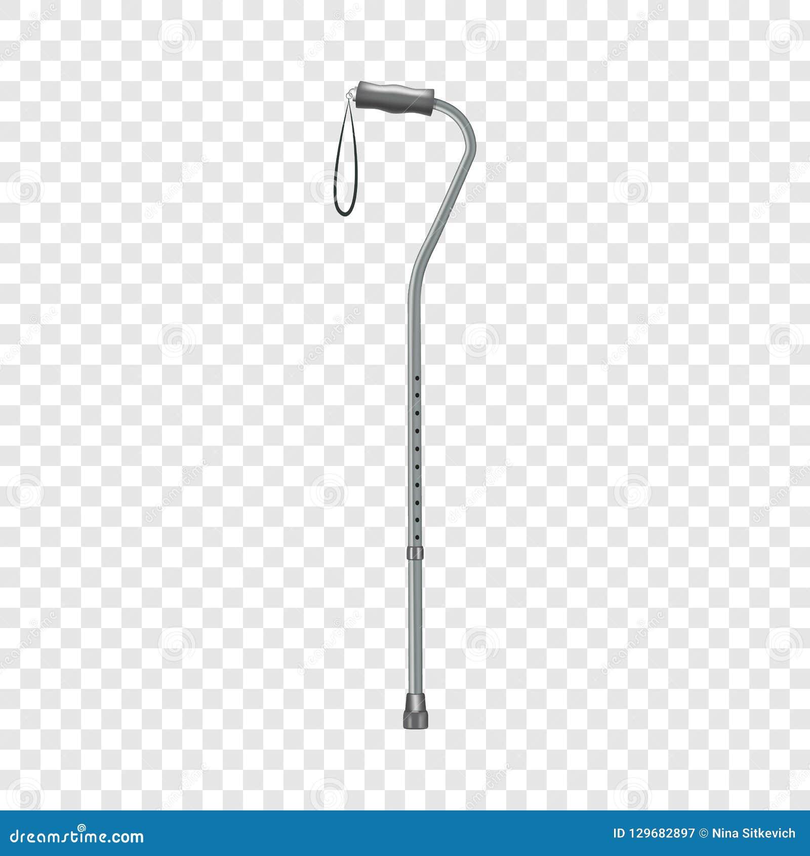 Icona del bastone da passeggio, stile realistico