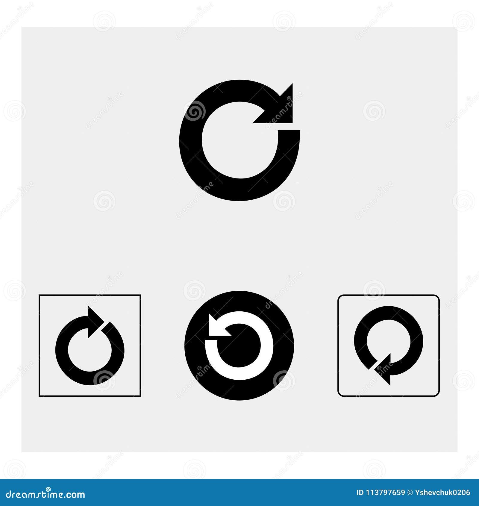 Icona del bottone di risistemazione Fondo grigio Illustrazione di vettore