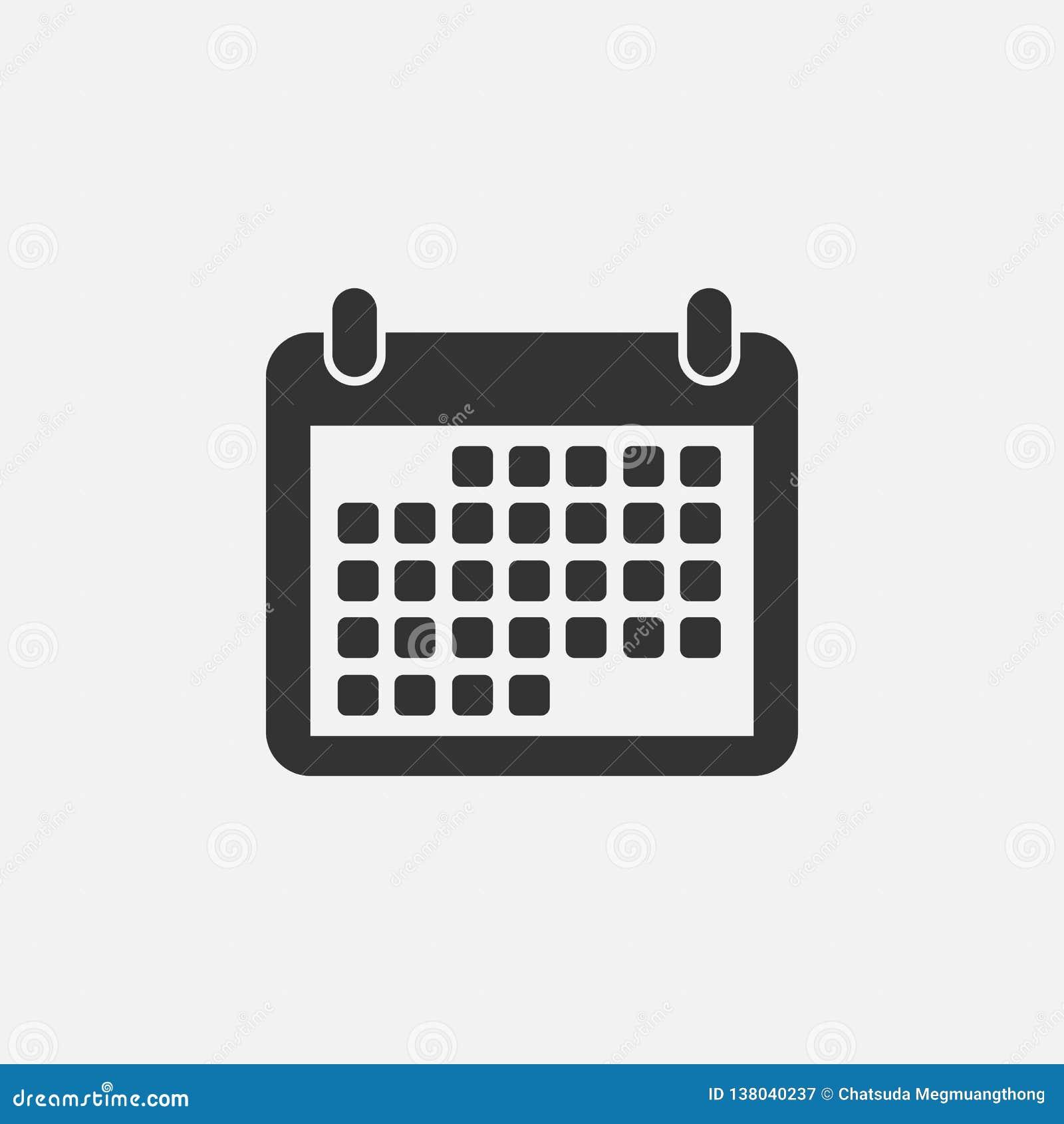 Calendario Giorno.Icona Del Calendario Data Ordine Del Giorno Mese
