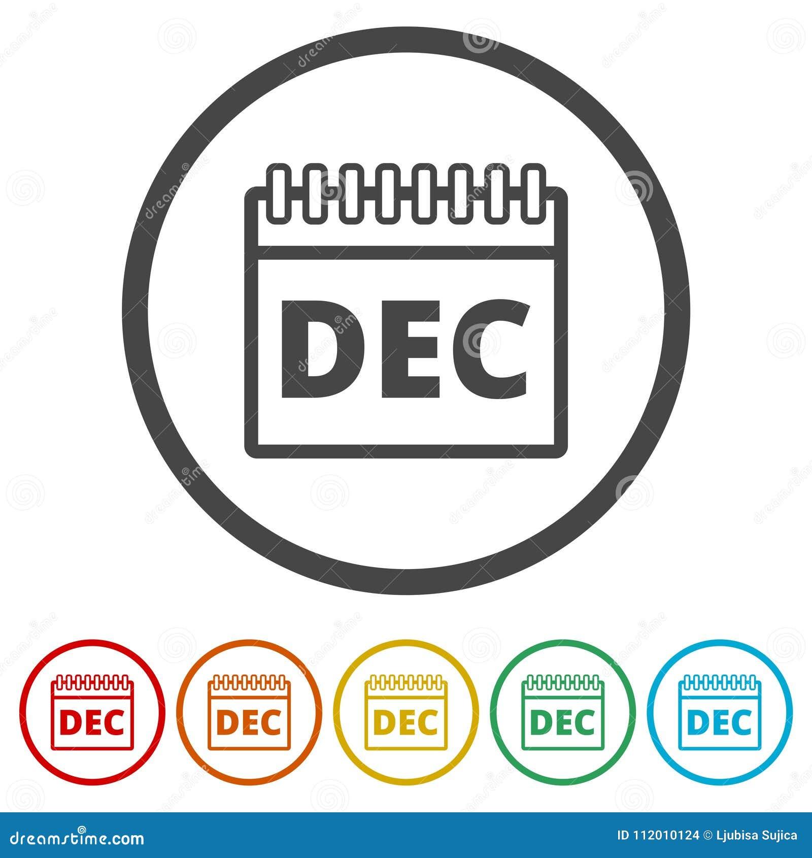 Simbolo De Calendario.Icona Del Calendario Di Dicembre Segno Del Calendario