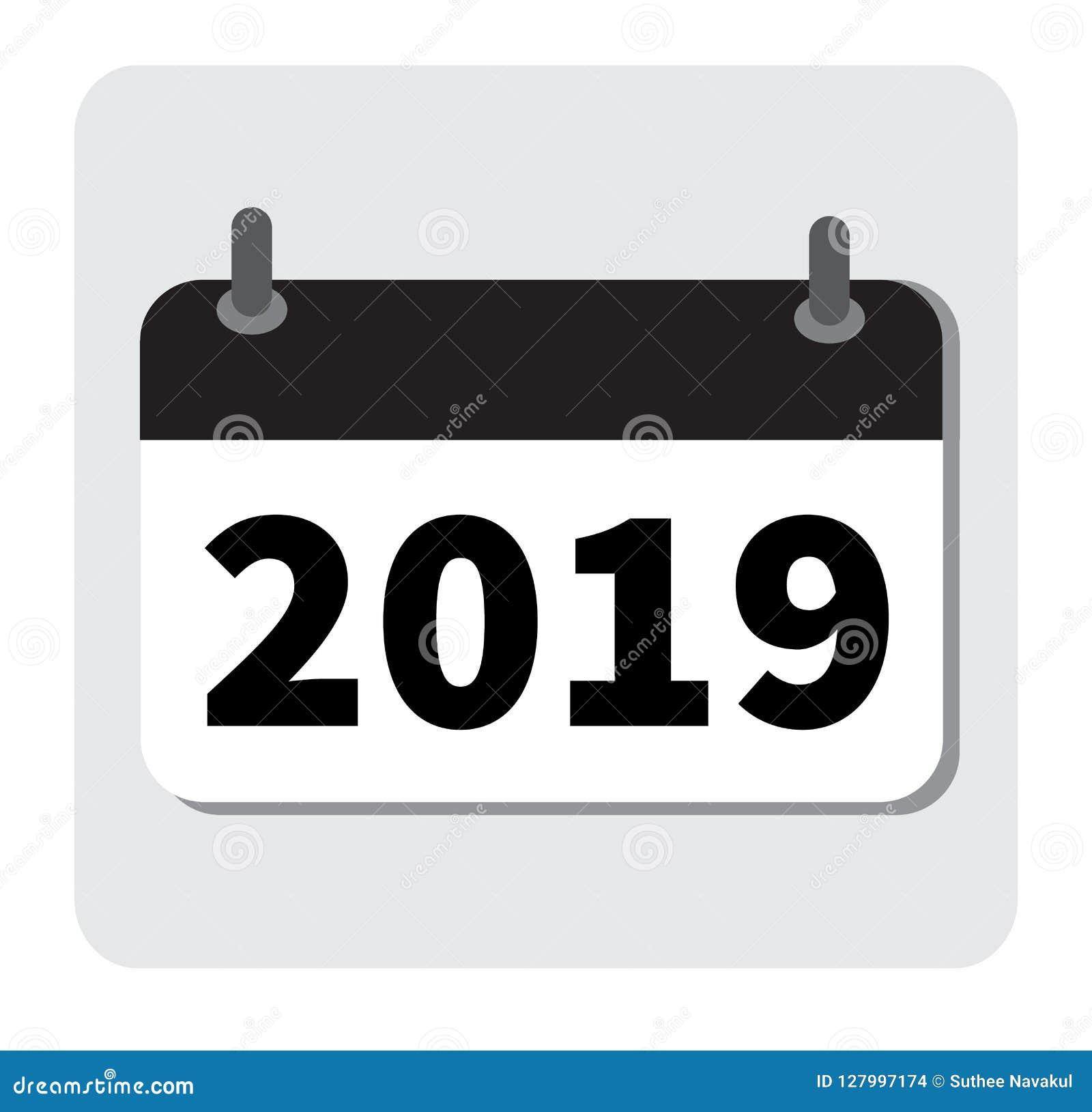 Calendario Per Sito Web.Icona 2019 Del Calendario Nuovo Anno 2019 Icona 2019 Per Il