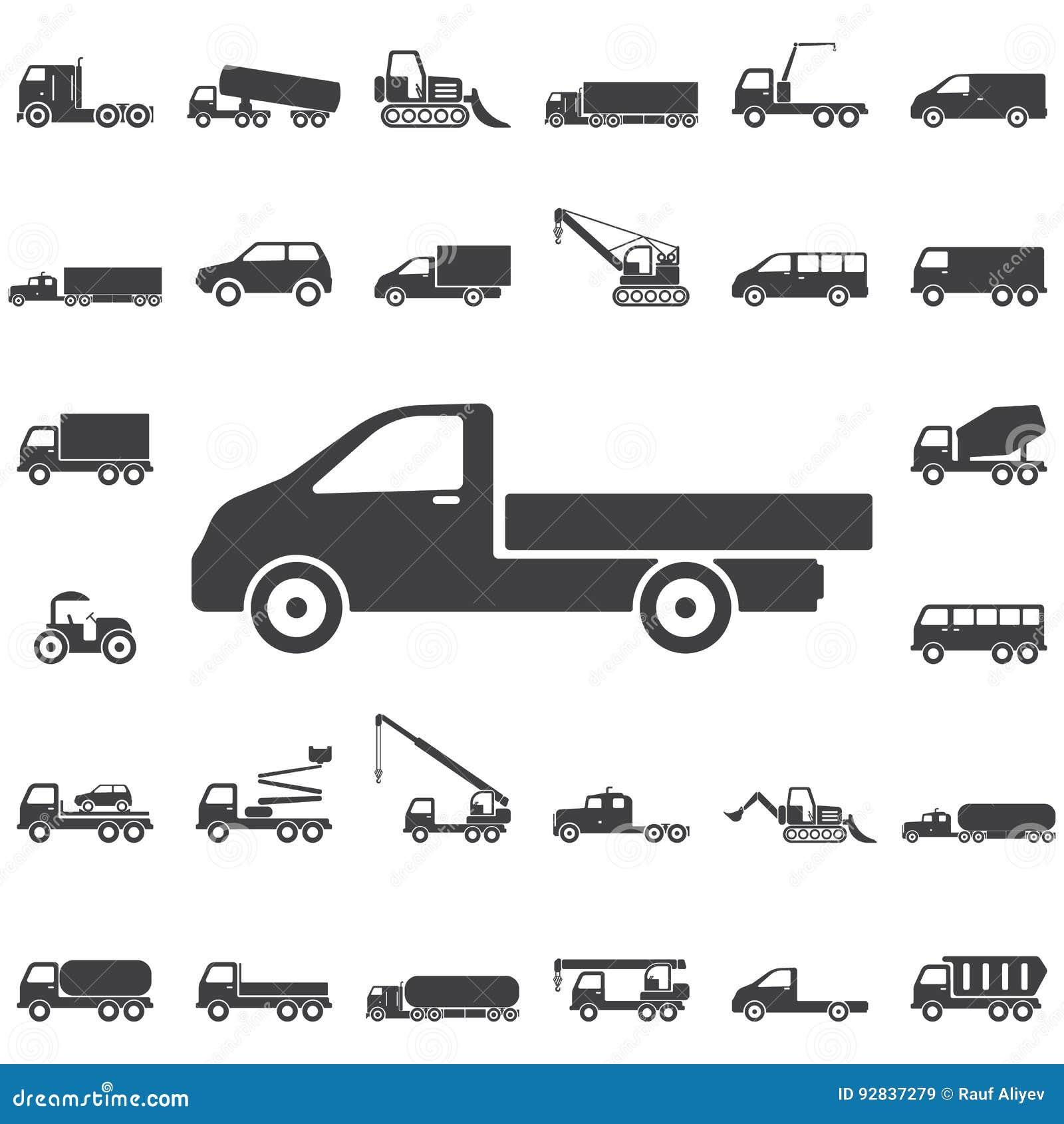Icona del camion su bianco