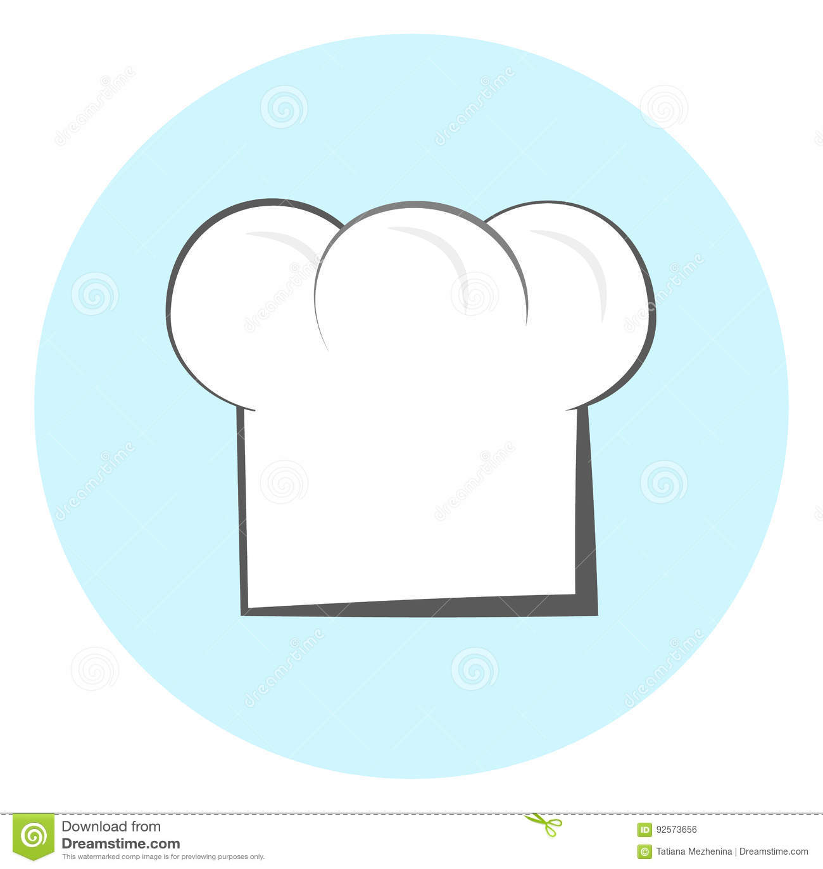 Icona del cappello del cuoco unico