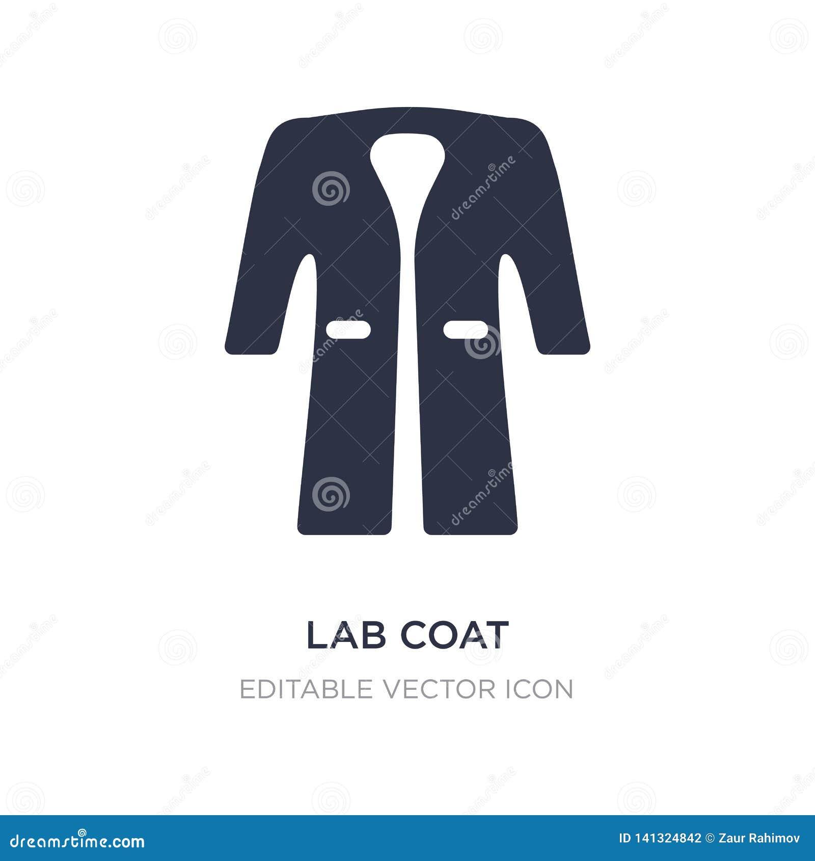 Icona del cappotto del laboratorio su fondo bianco Illustrazione semplice dell elemento dal concetto di modo