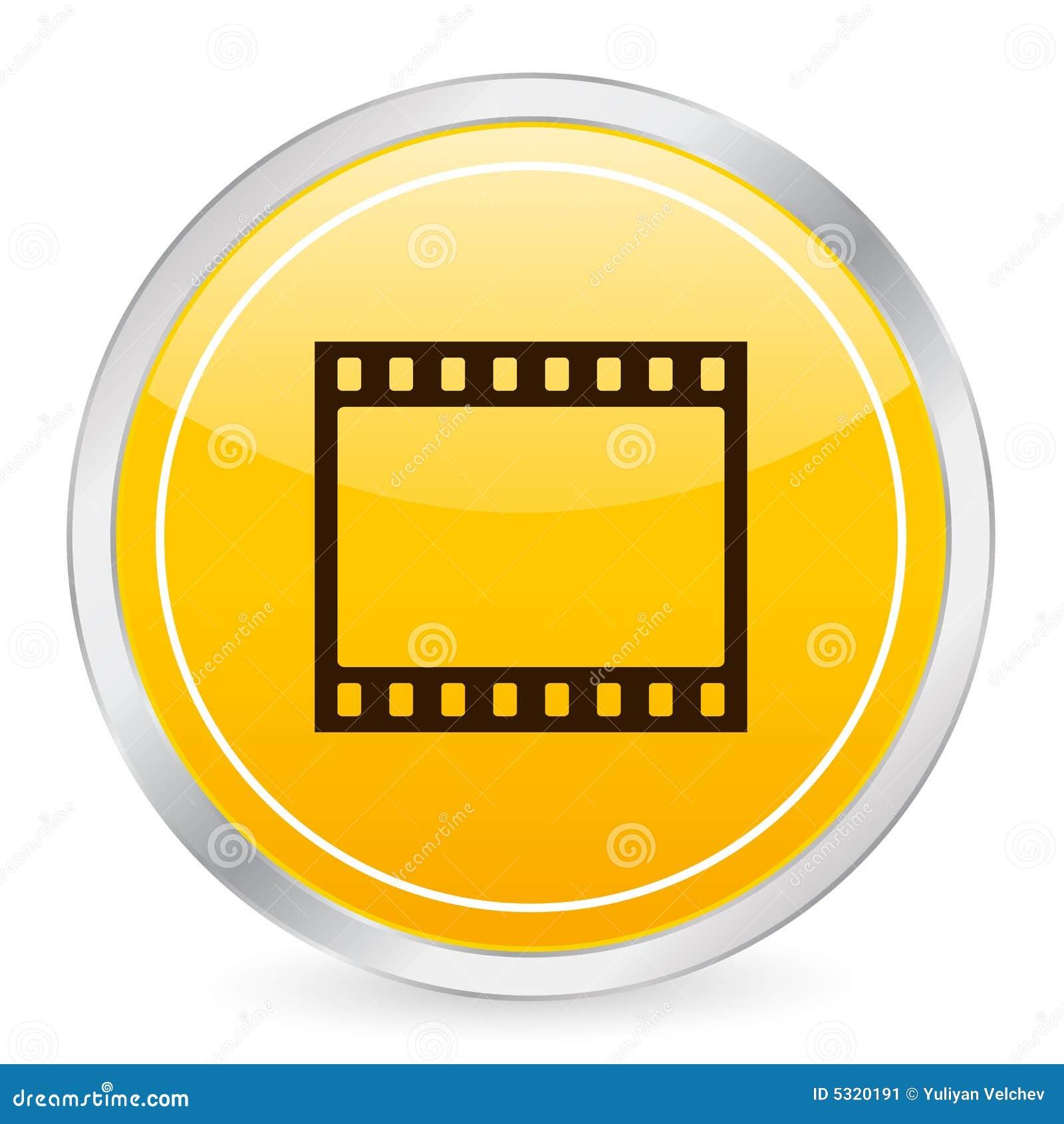 Download Icona Del Cerchio Di Colore Giallo Della Striscia Della Pellicola Illustrazione Vettoriale - Illustrazione di figura, nearsighted: 5320191