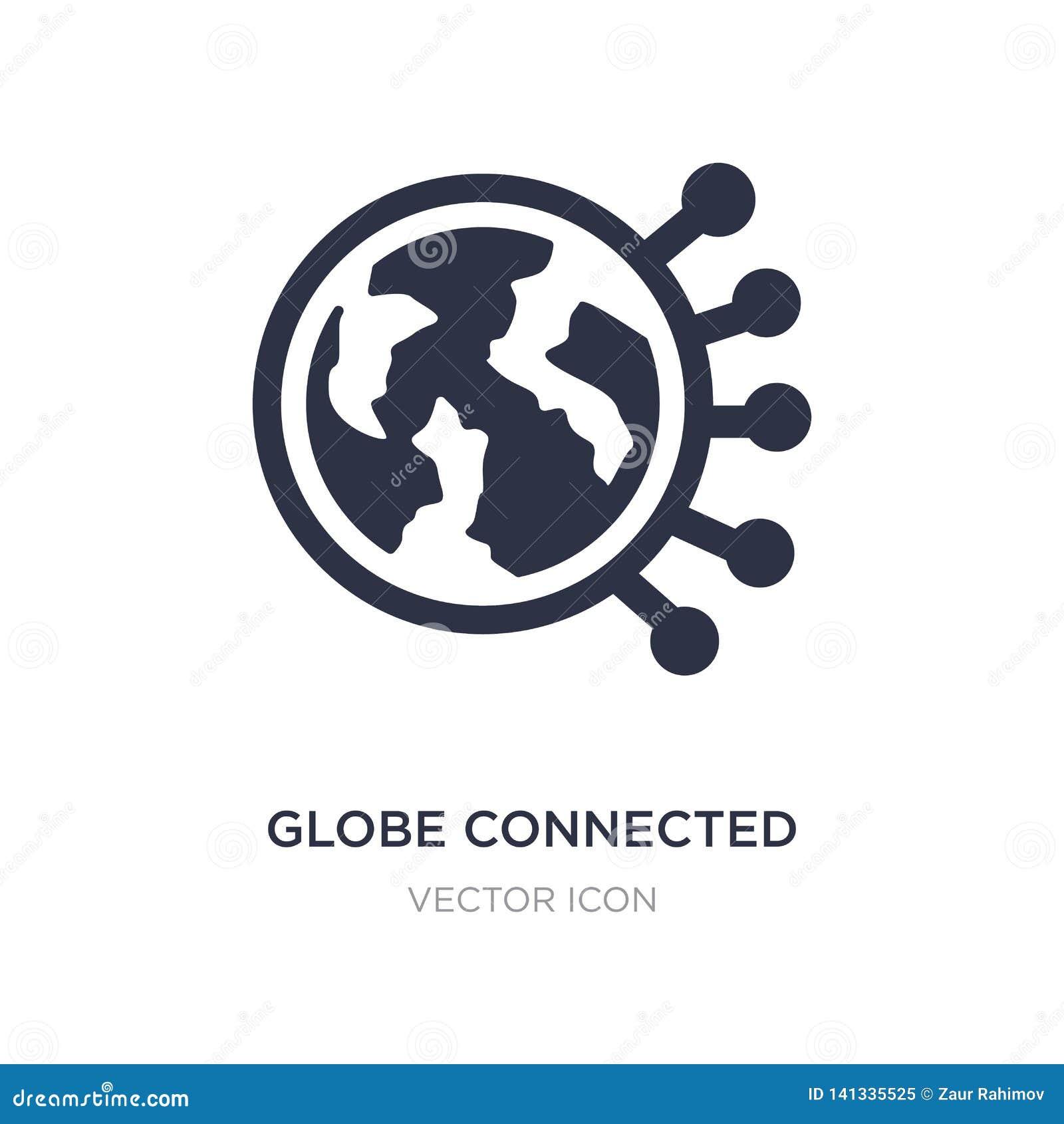 Icona del circuito collegata globo su fondo bianco Illustrazione semplice dell elemento dal concetto di tecnologia