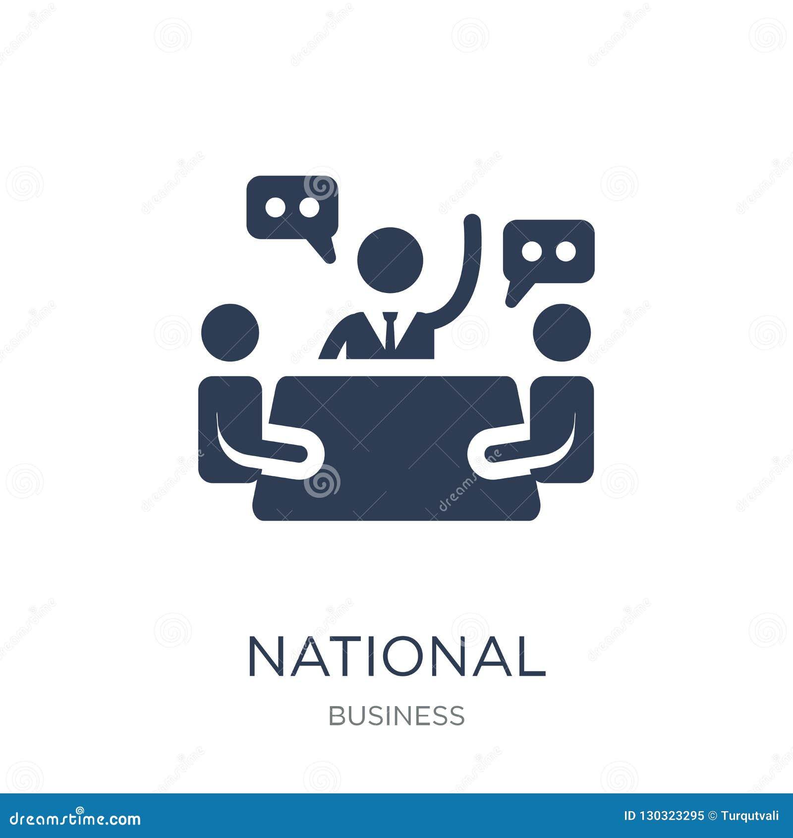 Icona del Consiglio economico nazionale Vettore piano d avanguardia Econ nazionale