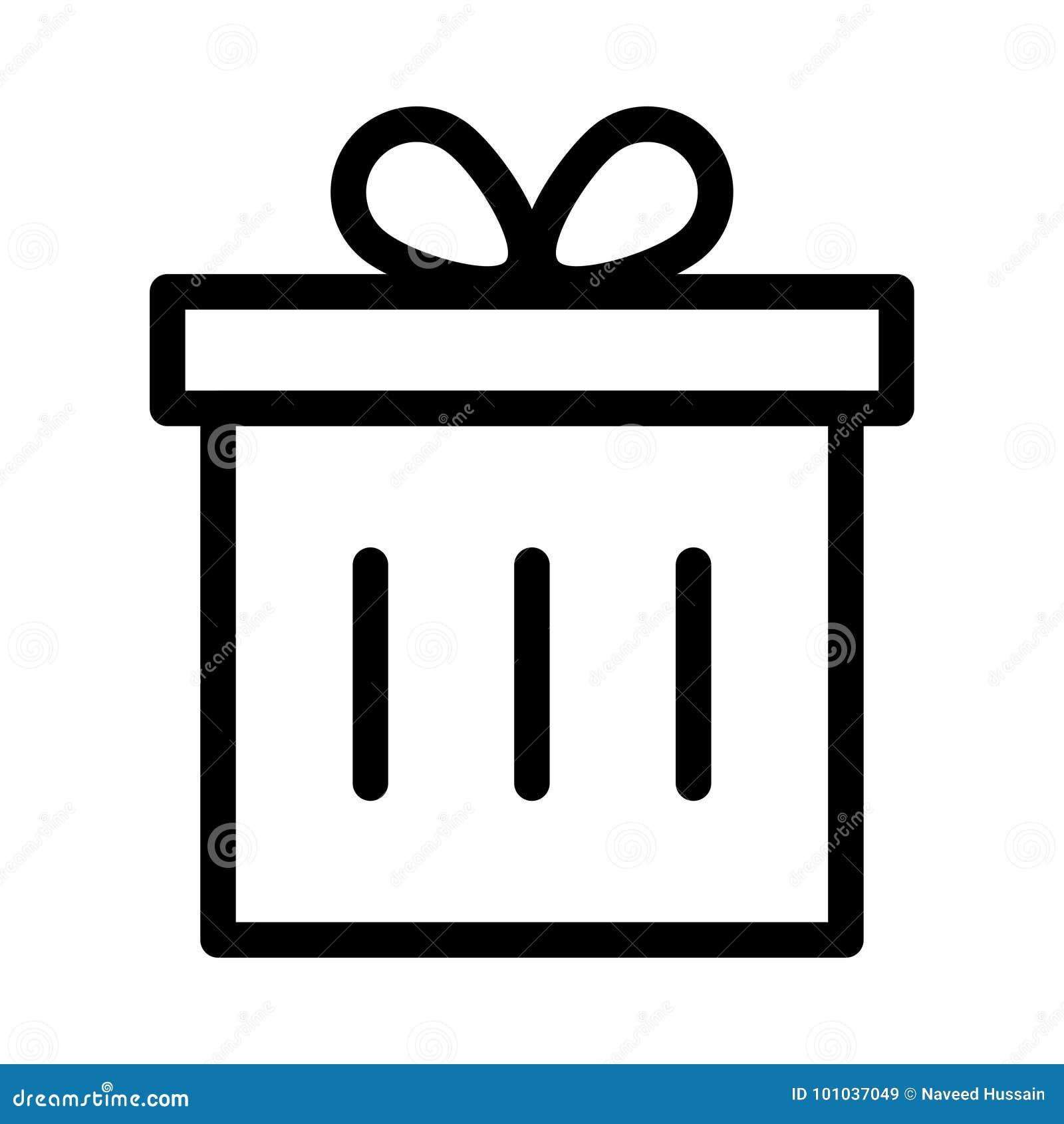 Icona del contenitore di regalo