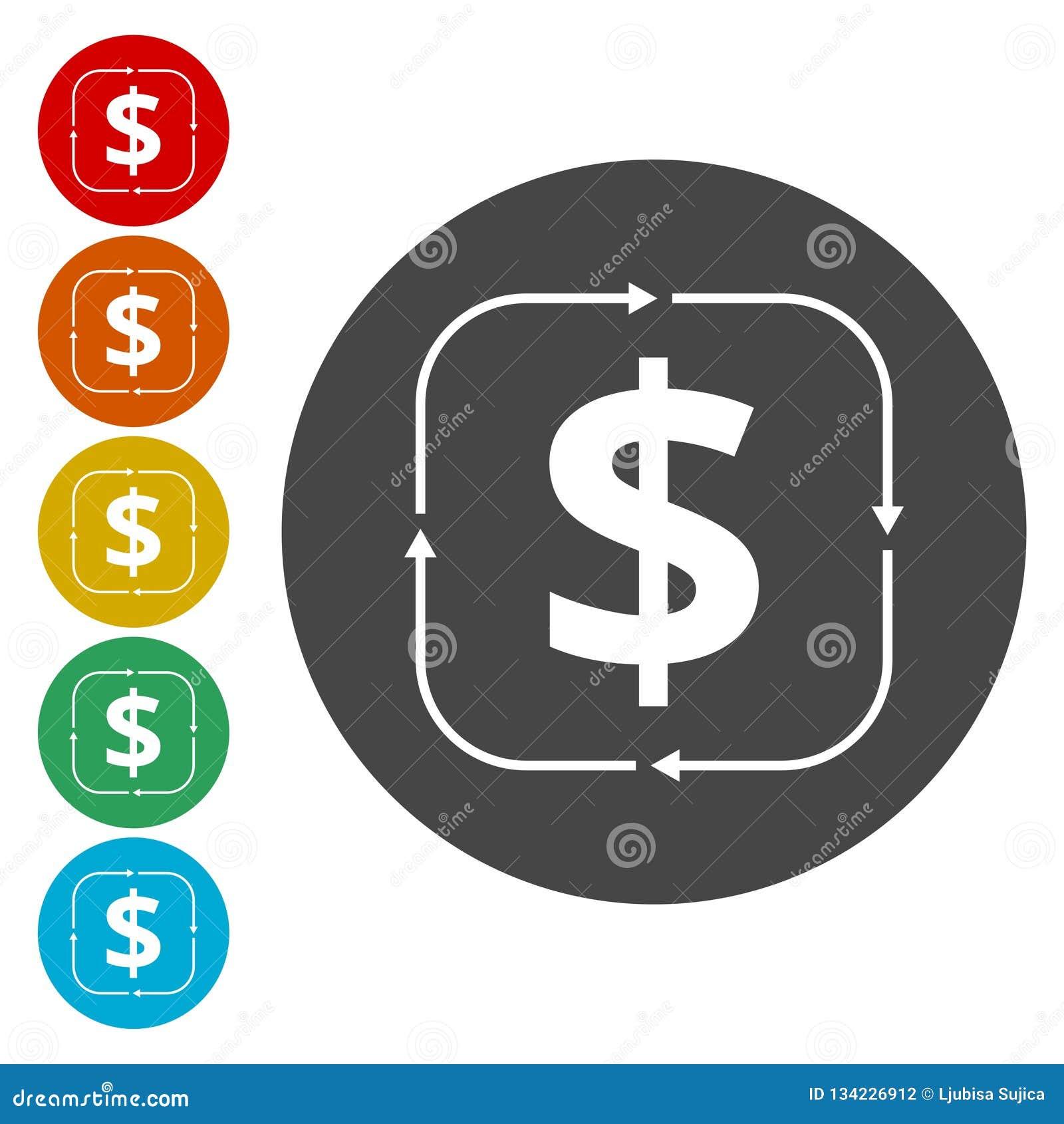 Icona del convertito dei soldi