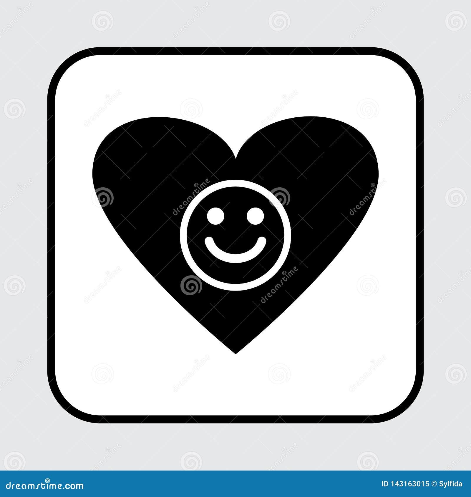 Icona del cuore E Illustrazione di vettore