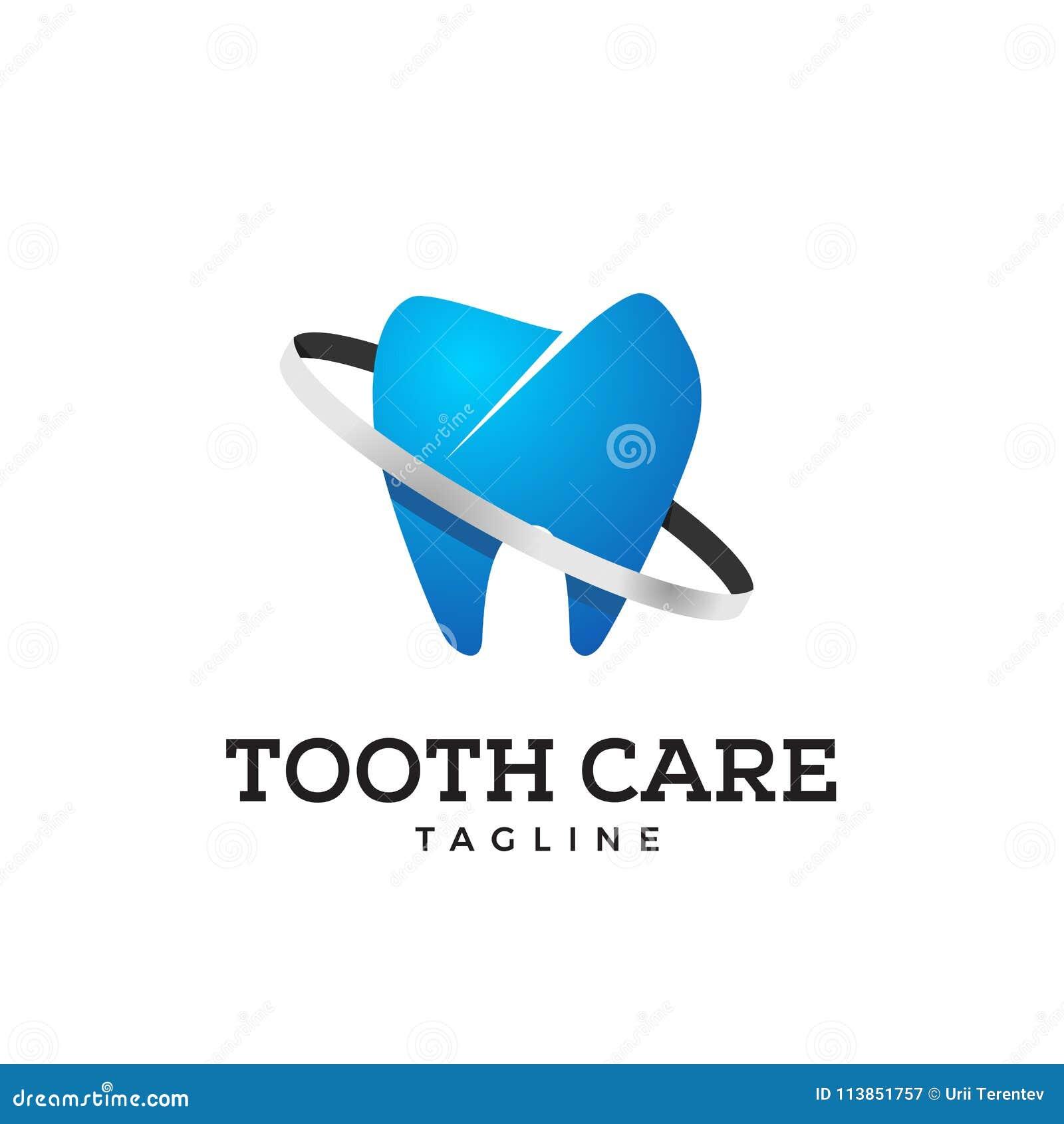 Icona del dente nel colore blu