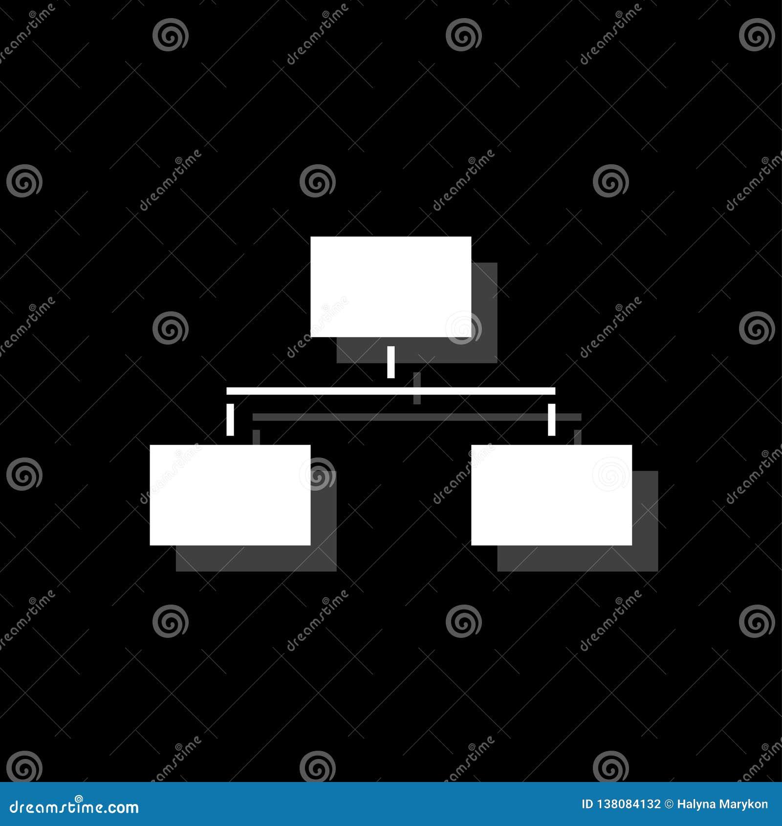 Icona del diagramma di flusso piana