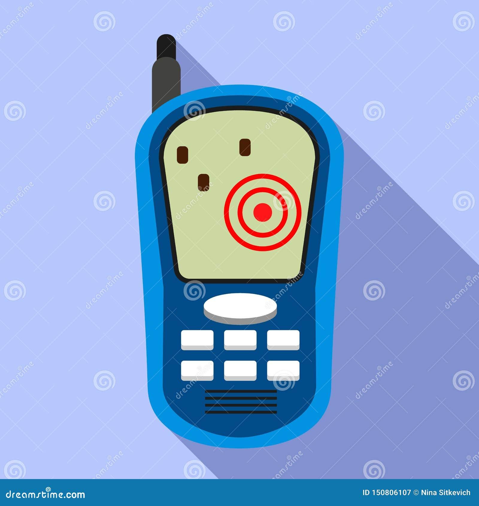 Icona del dispositivo dell inseguitore dei Gps, stile piano
