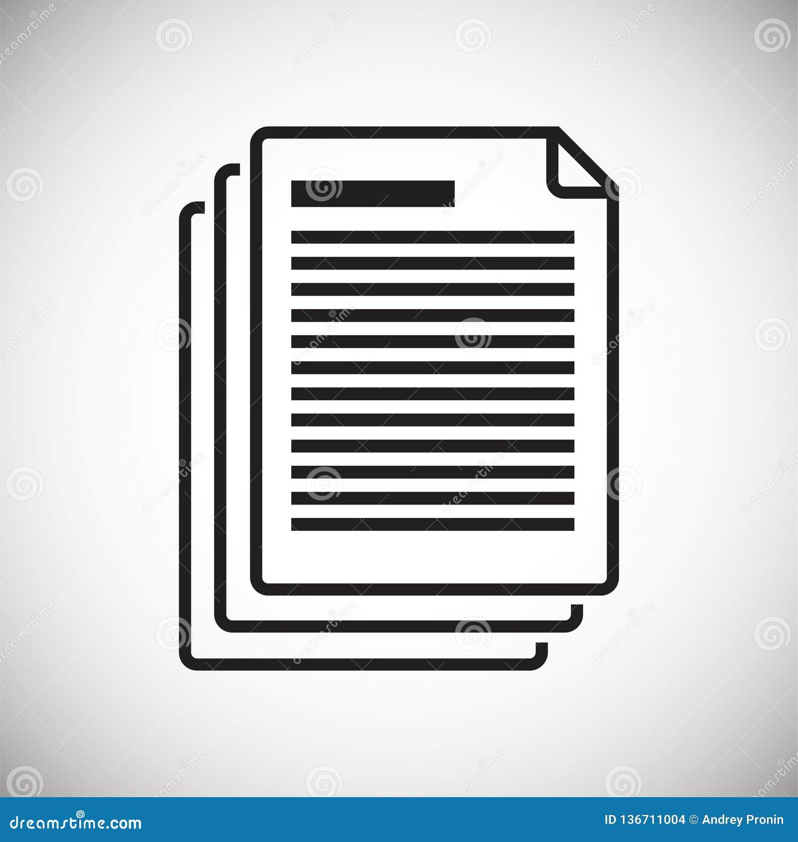 Icona del documento di affari su fondo bianco per il grafico ed il web design, segno semplice moderno di vettore Concetto del Int