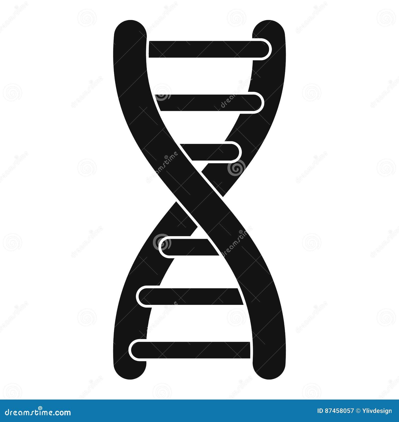 Icona del filo del DNA, stile semplice