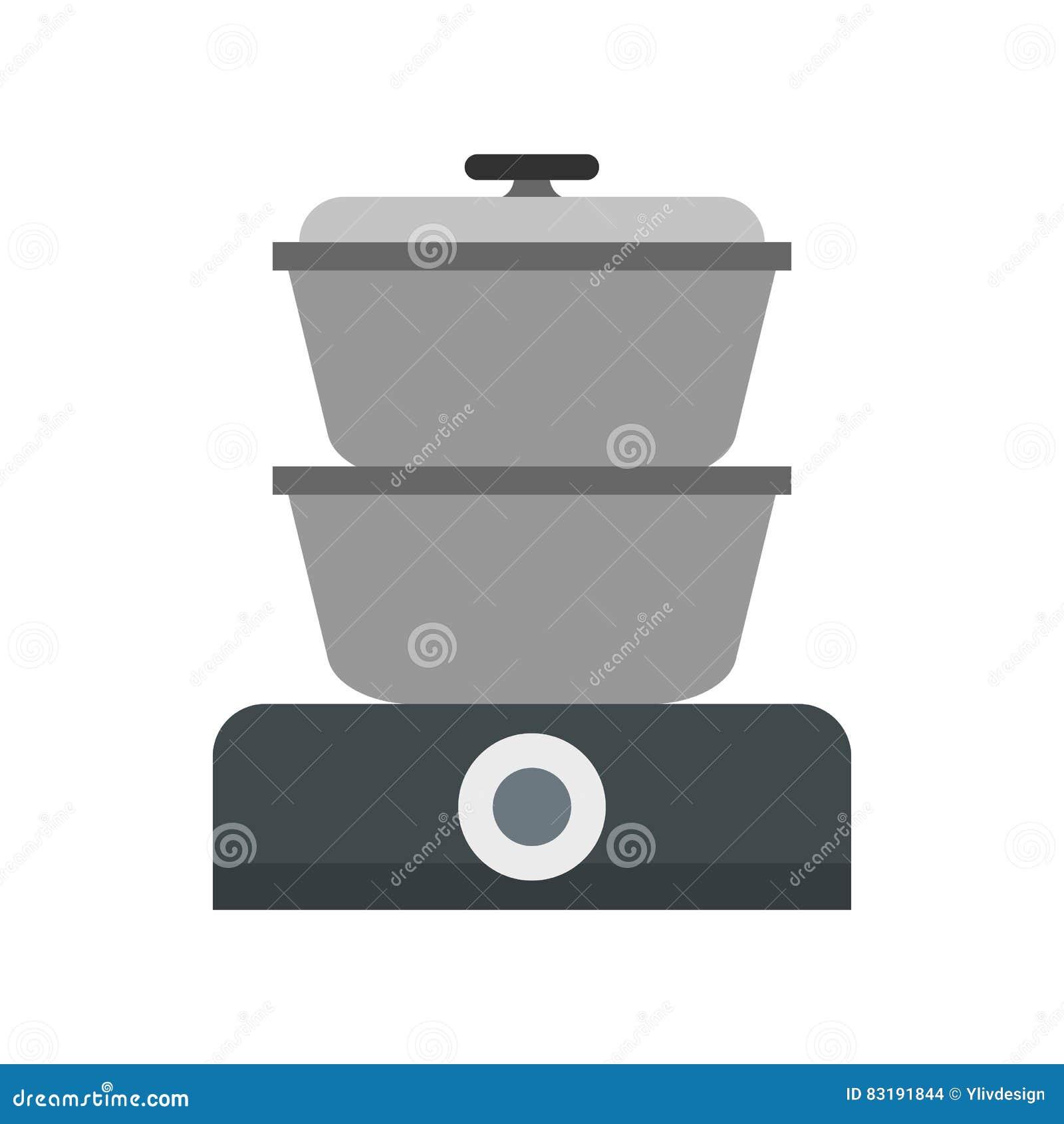 Icona del fornello del vapore, stile piano