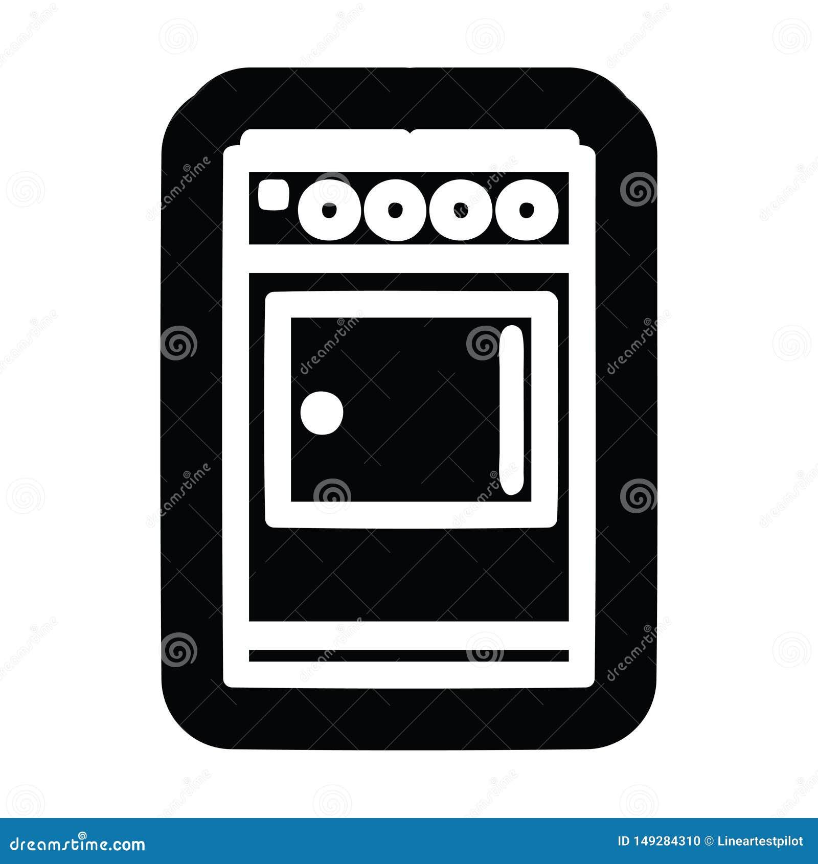 Icona del fornello della cucina