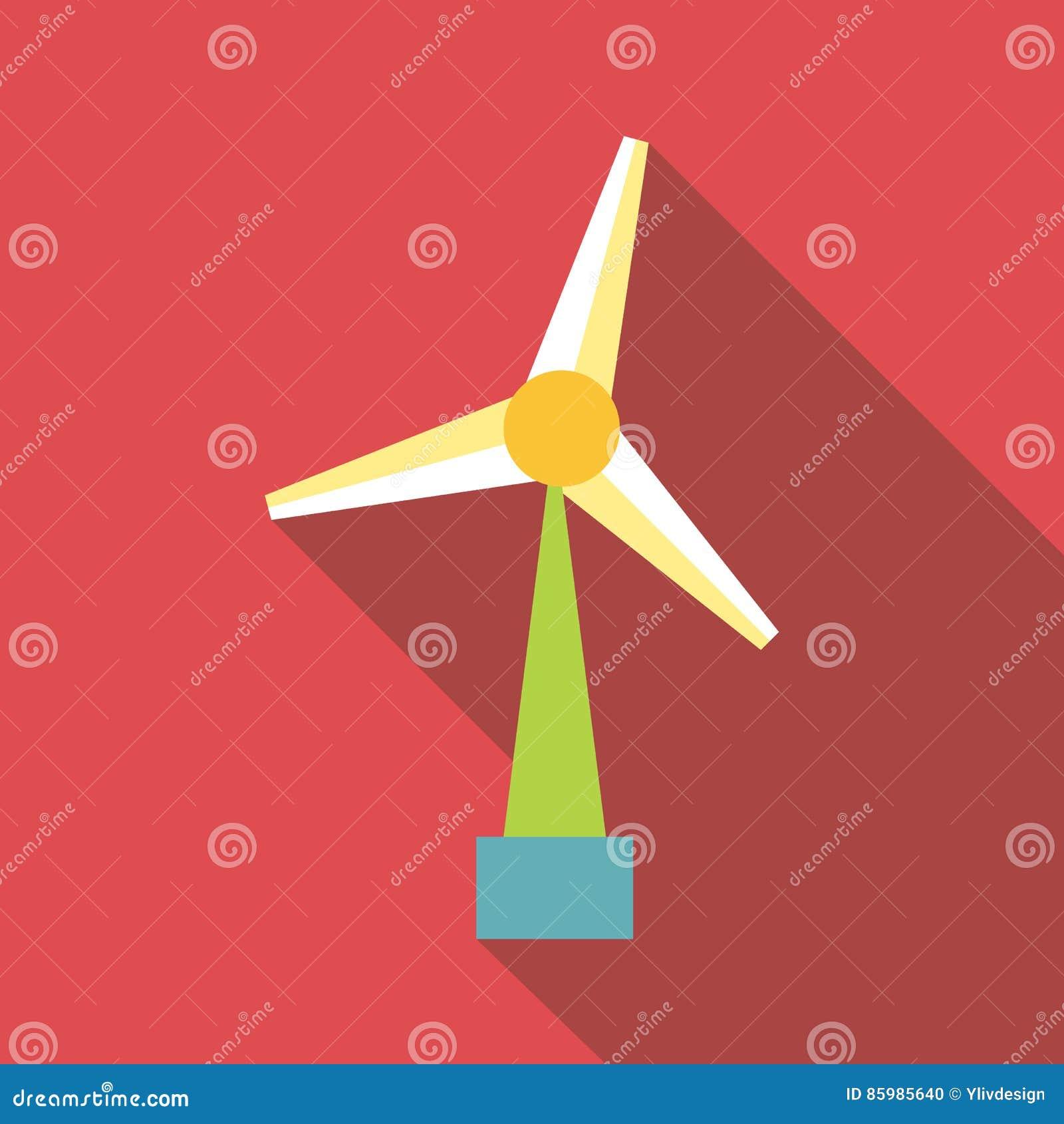 Icona del generatore eolico stile piano illustrazione for Generatore di piano