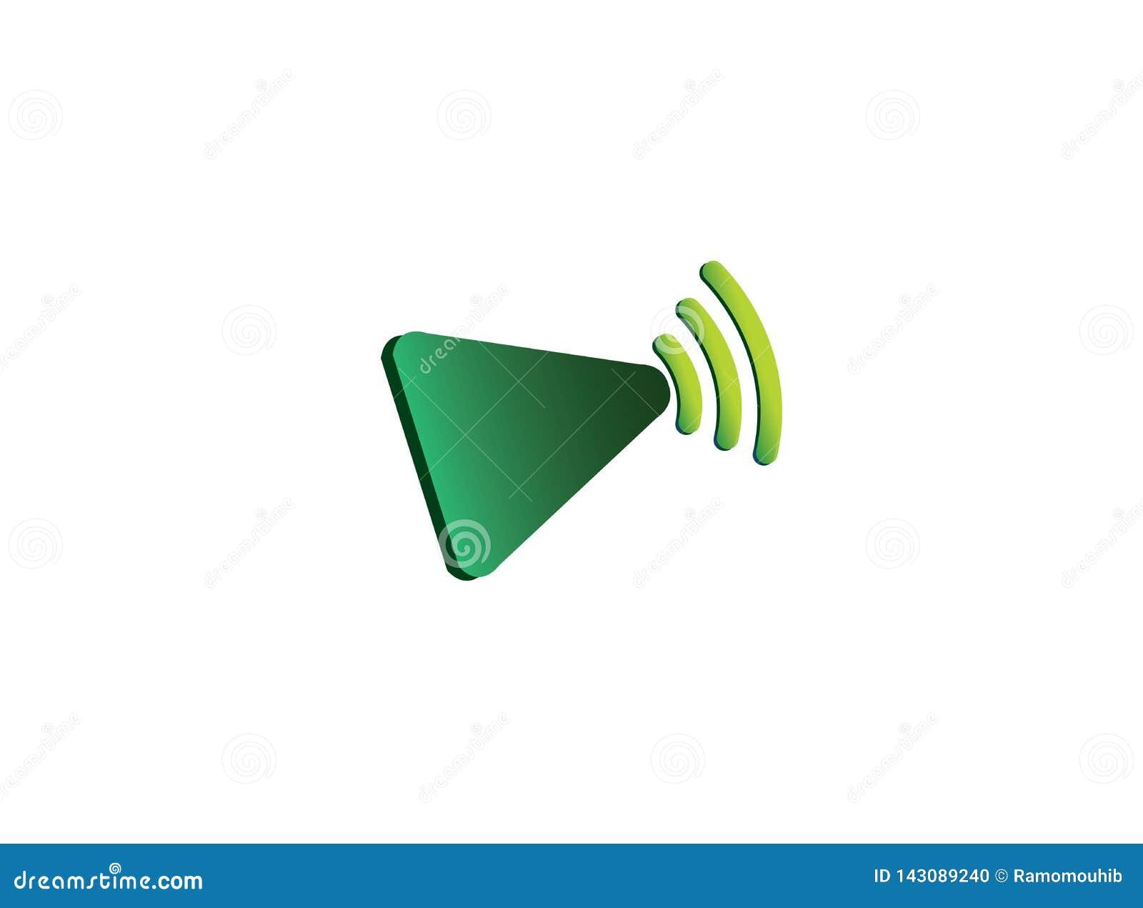 Icona del gioco con le frequenze di wifi per progettazione di logo