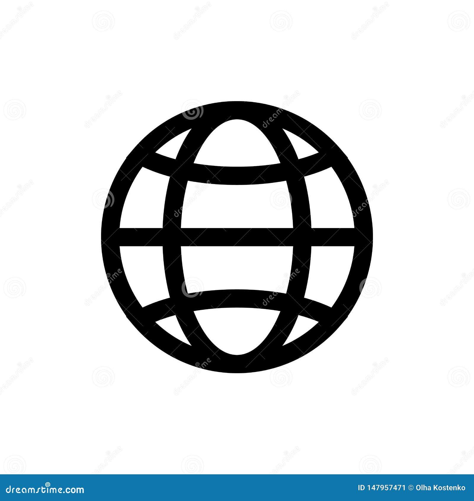 Icona del globo, isolata