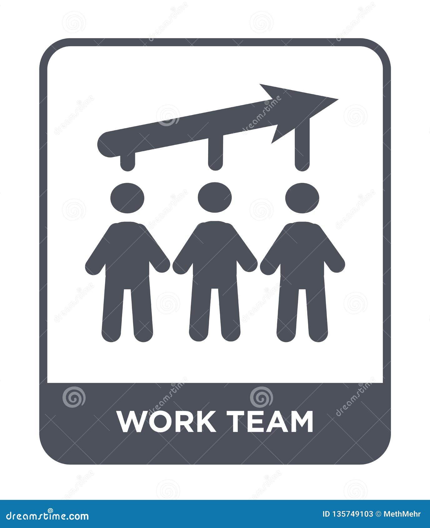 Icona del gruppo del lavoro nello stile d avanguardia di progettazione icona del gruppo del lavoro isolata su fondo bianco piano