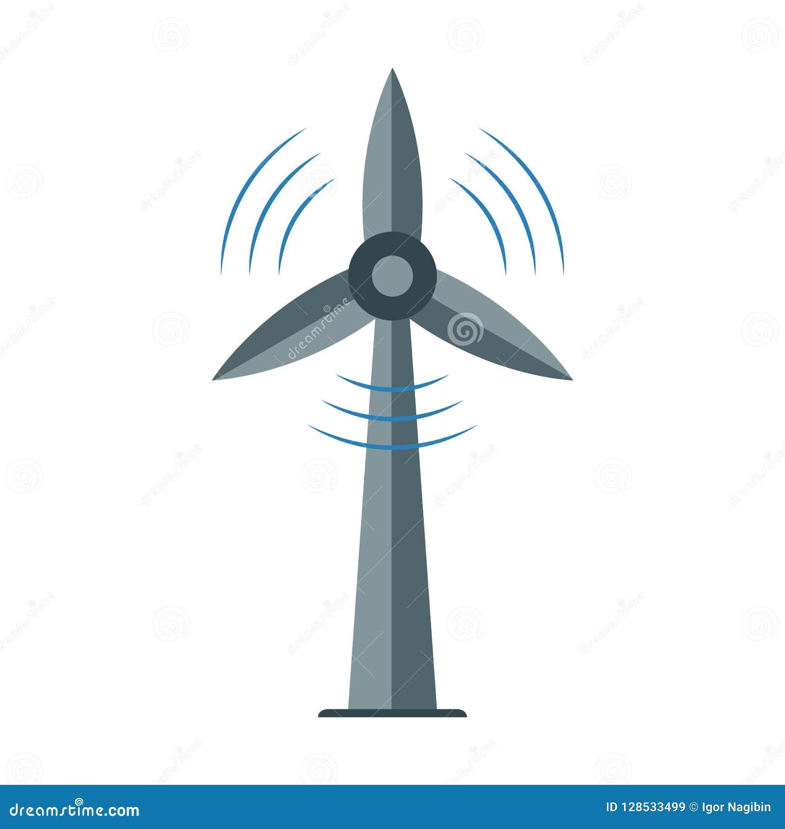 Icona del mulino a vento, simbolo di ecologia, potere dell energia alternativa