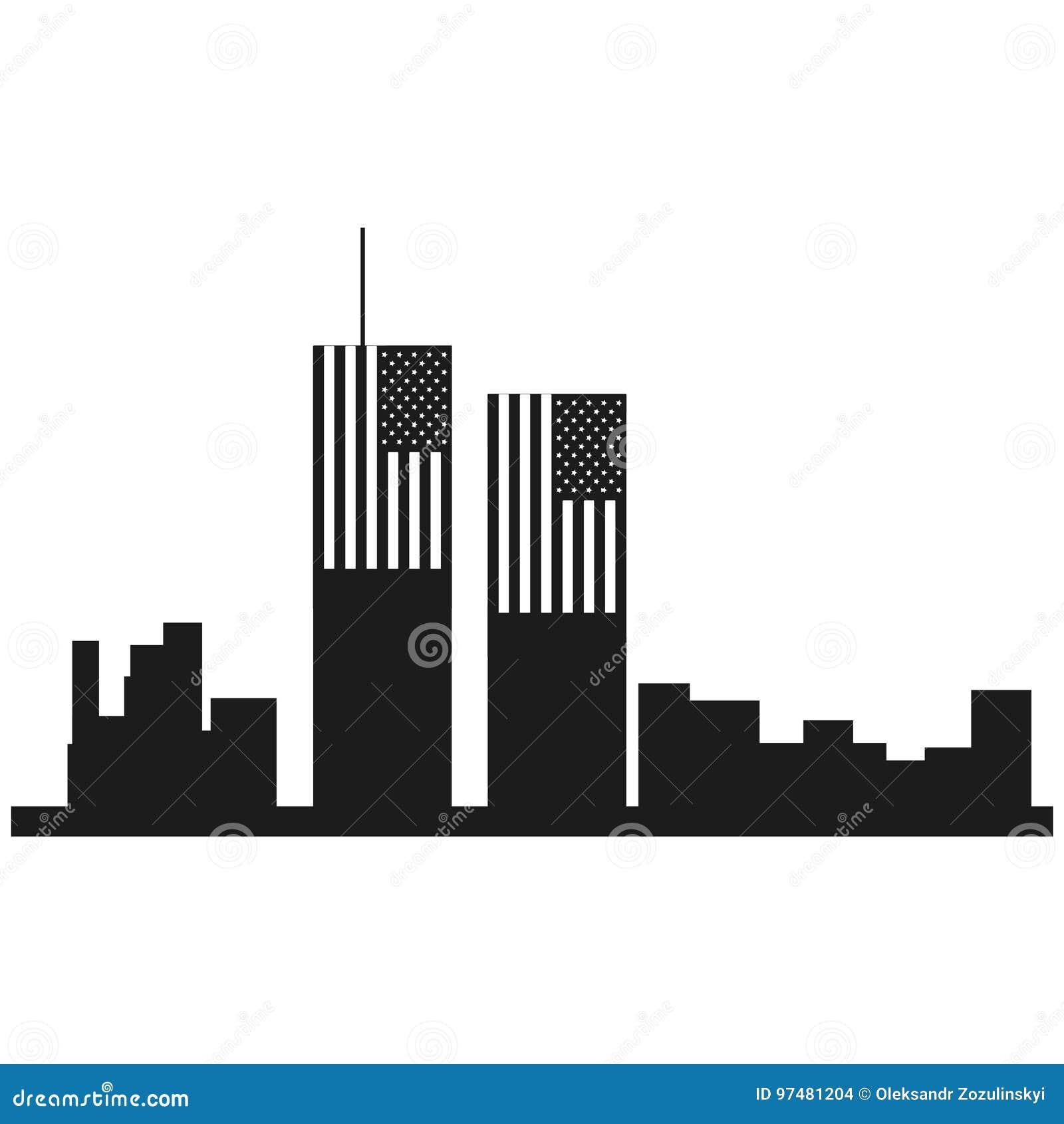 Icona del nero di vettore di giorno del patriota su fondo bianco