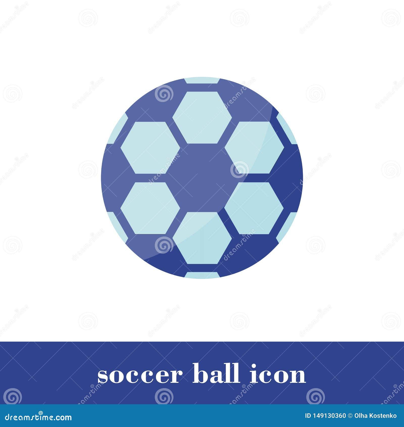 Icona del pallone da calcio Stile piano Palla