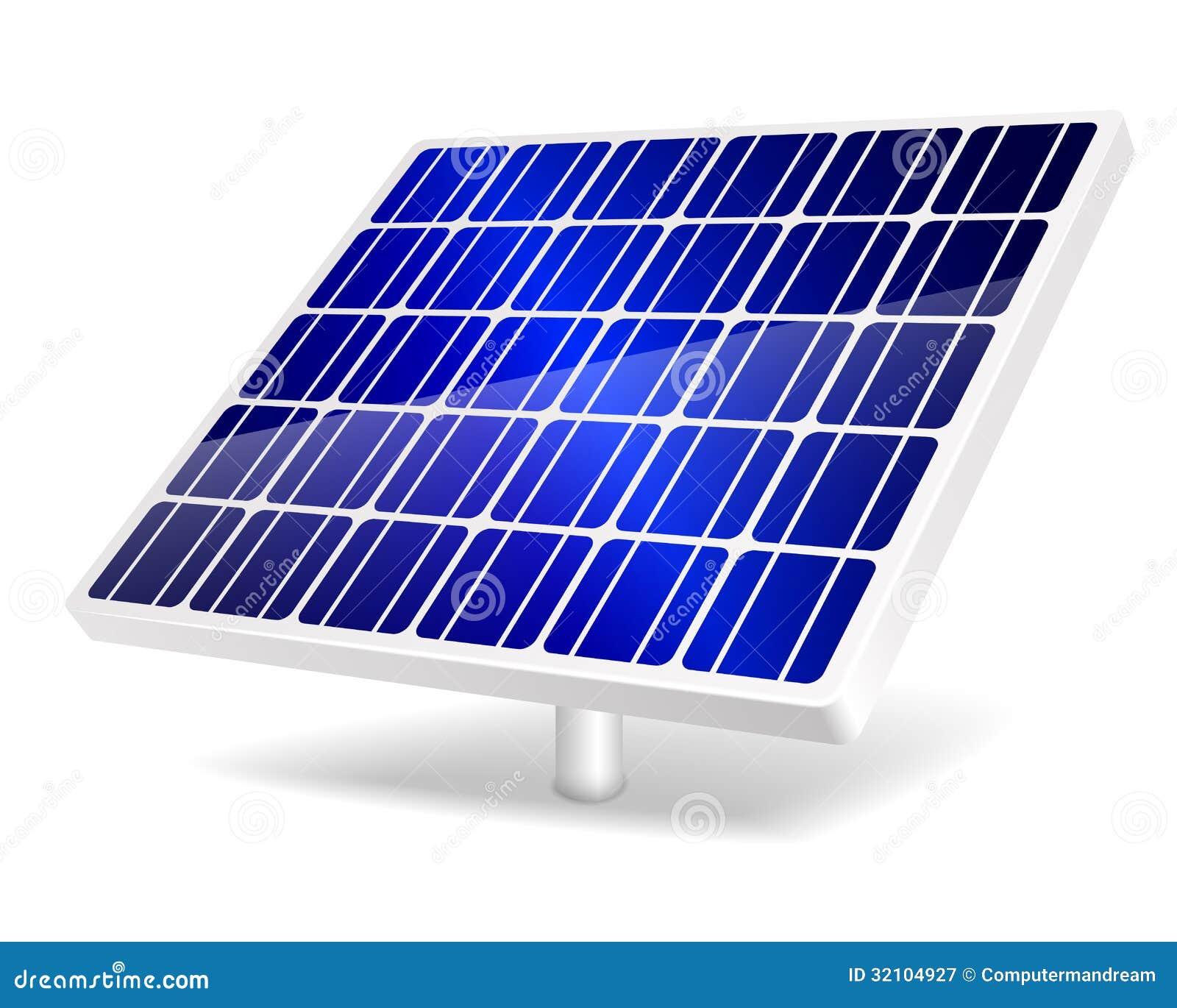 Pannello Solare Danneggiato : Icona del pannello solare illustrazione vettoriale