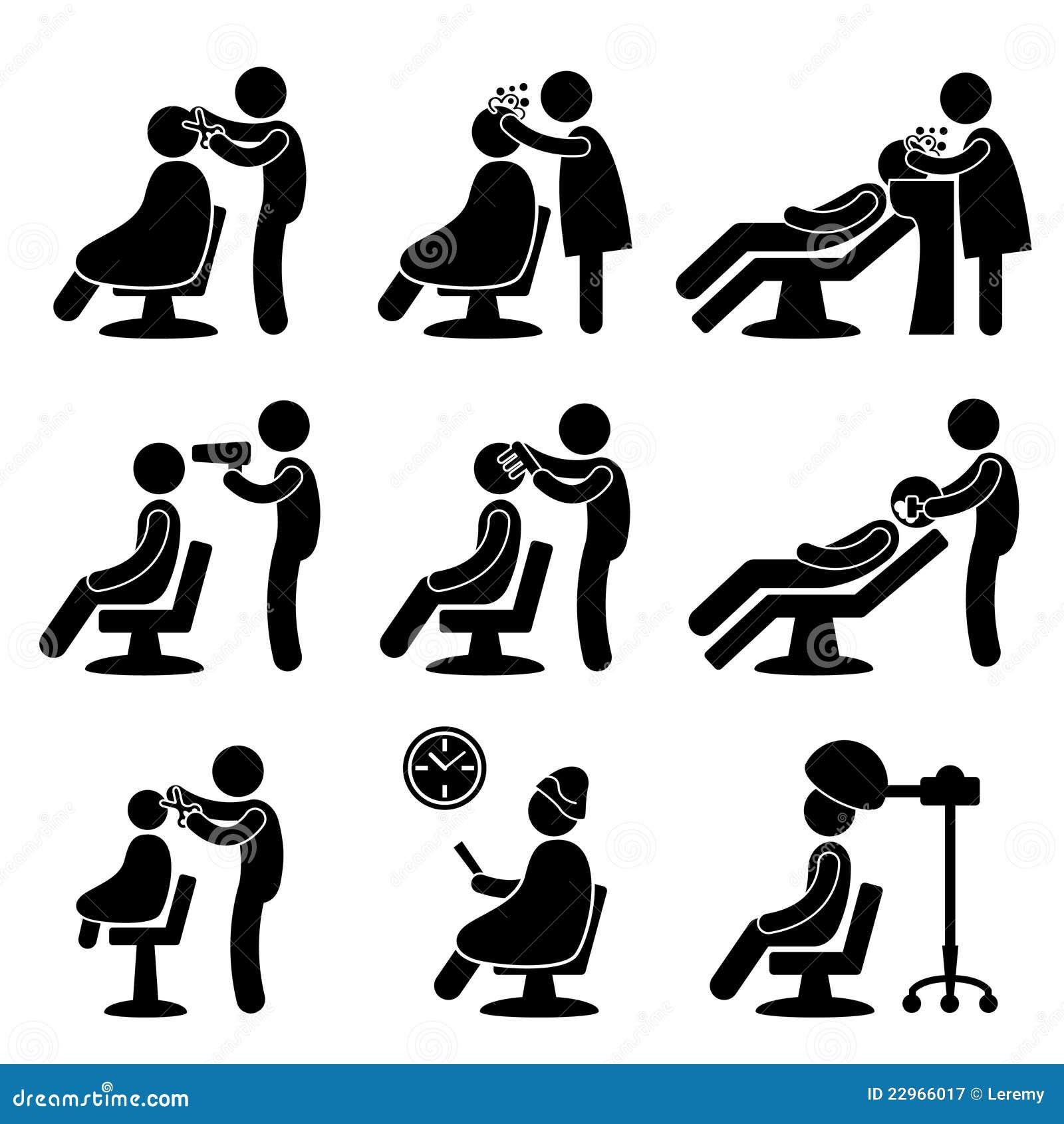 Icona del parrucchiere del salone di capelli del barbiere for Simbolo barbiere