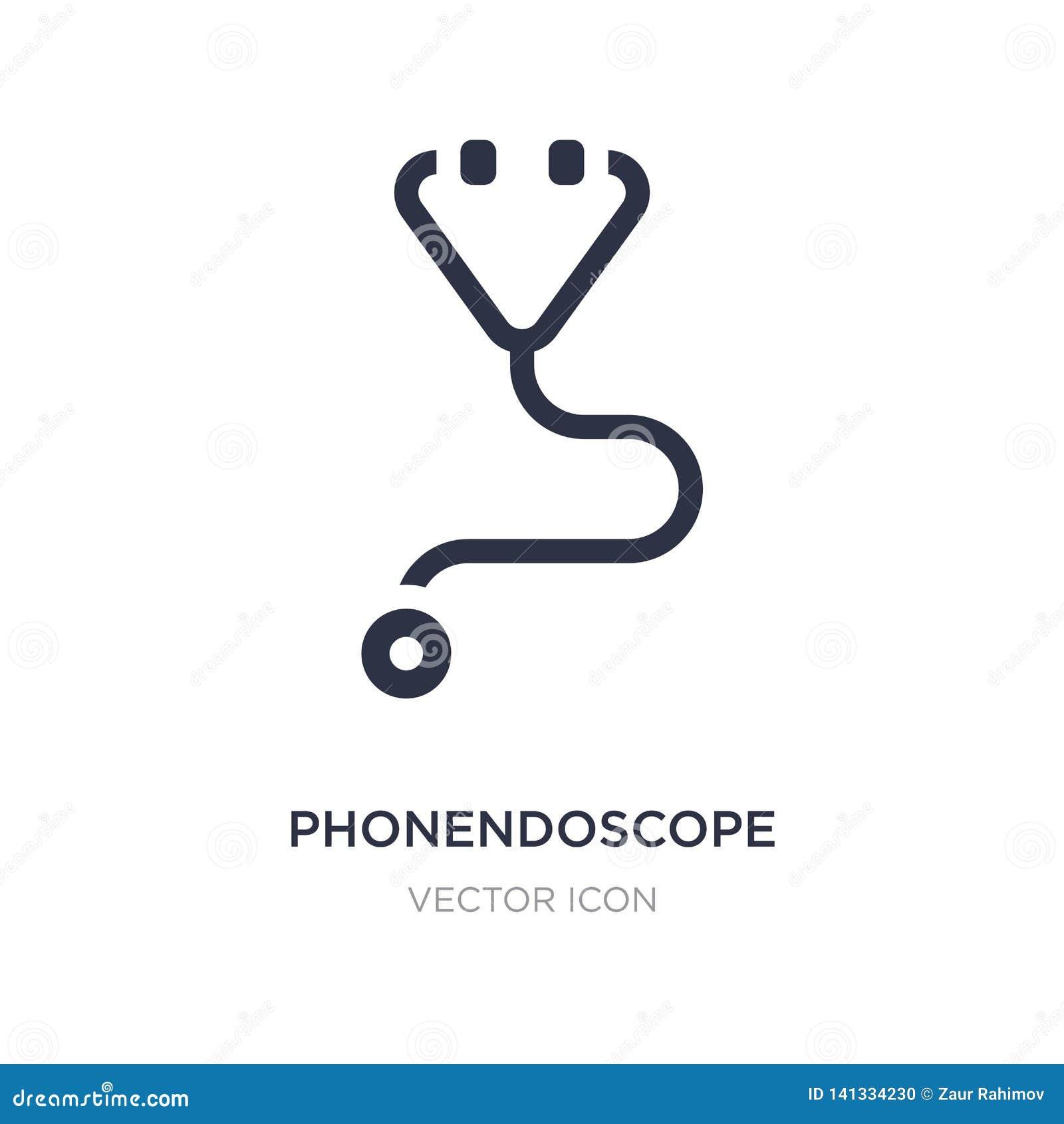 Icona del phonendoscope su fondo bianco Illustrazione semplice dell elemento dal concetto igienico sanitario