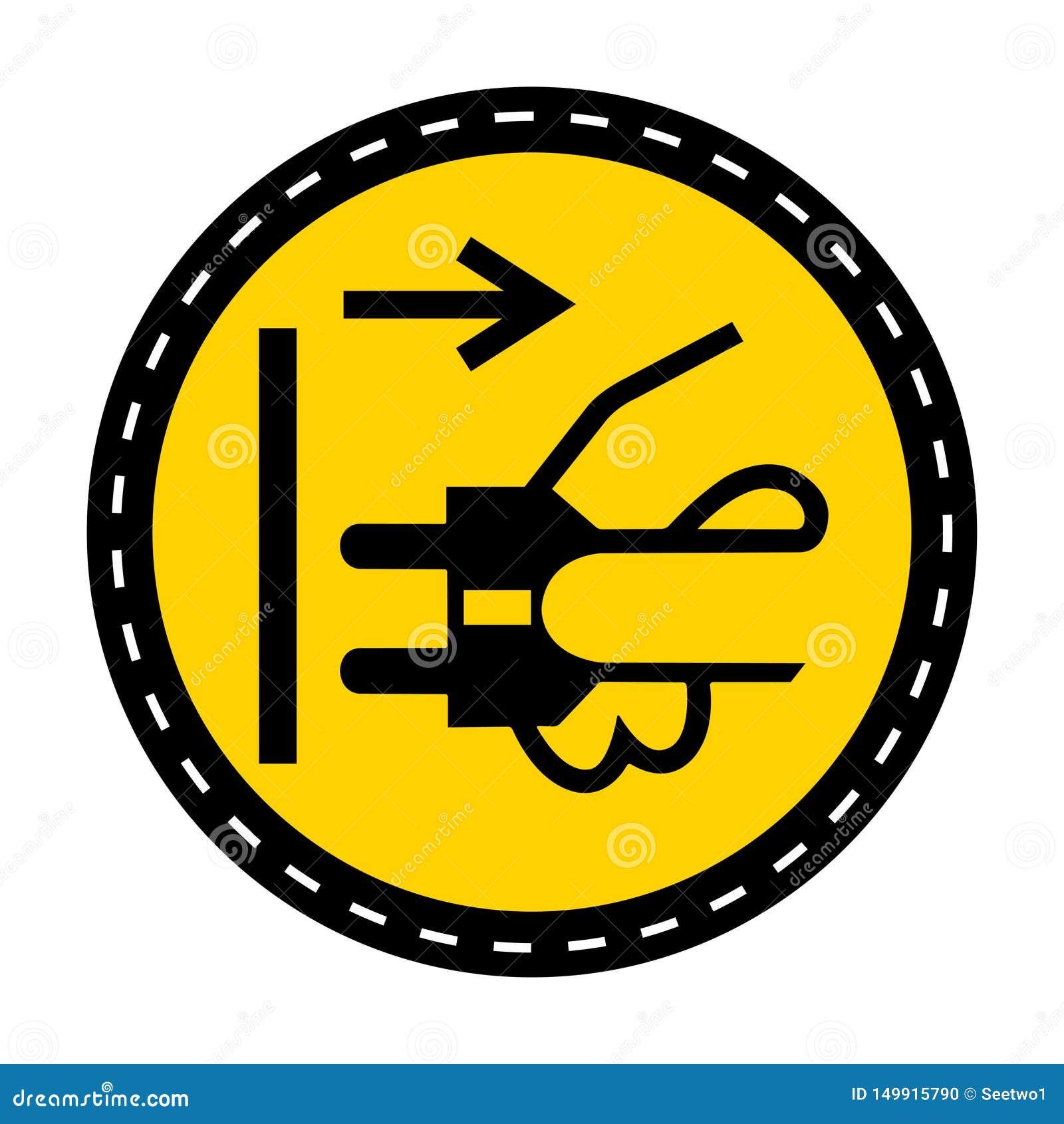 Icona del PPE Le condutture di sconnessione tappano dall isolato elettrico del segno di simbolo dello sbocco su fondo bianco, ill