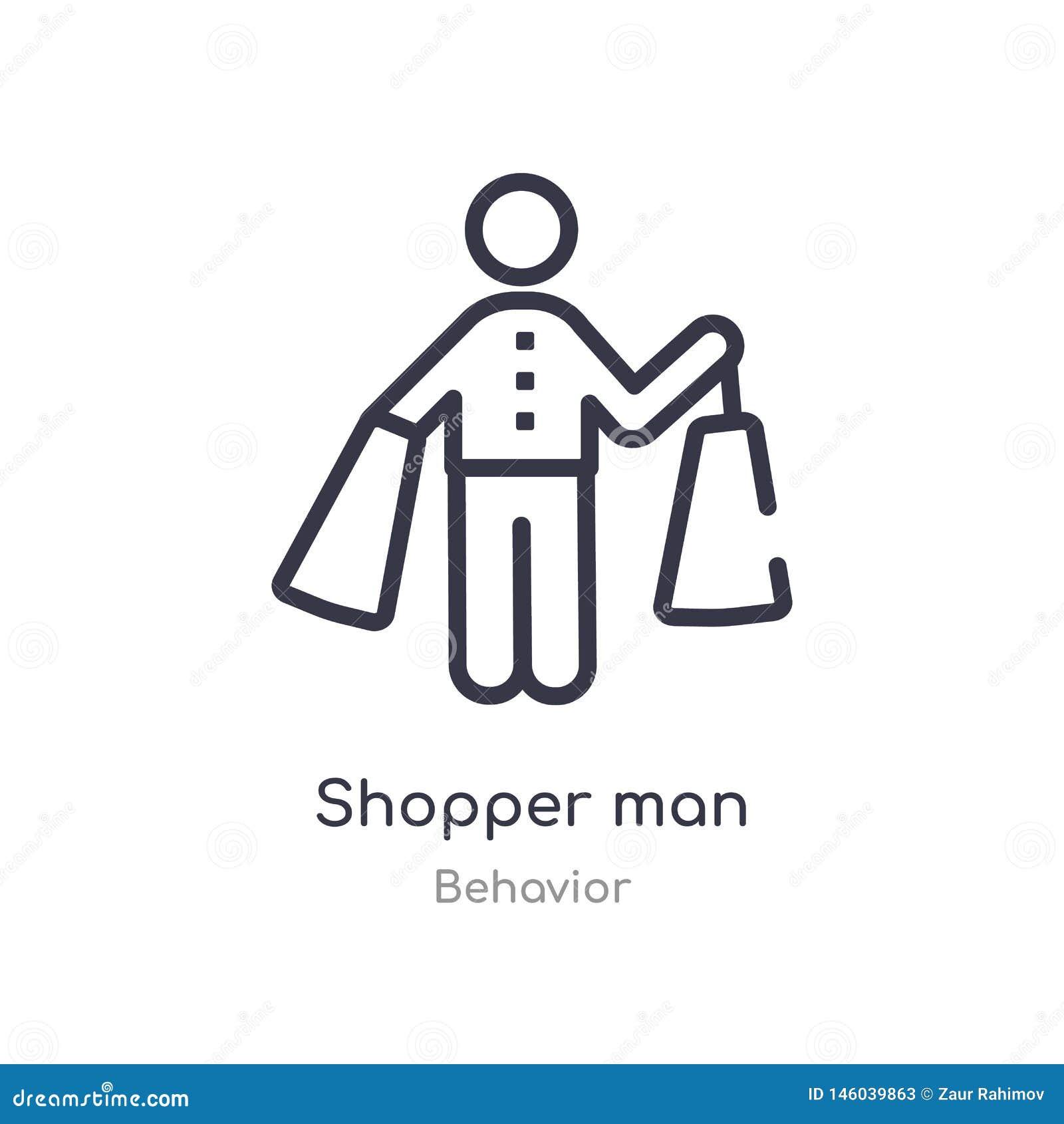 Icona del profilo dell uomo del cliente linea isolata illustrazione di vettore dalla raccolta di comportamento icona sottile edit