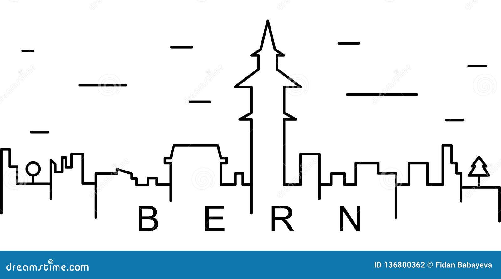 Icona del profilo di Berna Può essere usato per il web, il logo, il app mobile, UI, UX