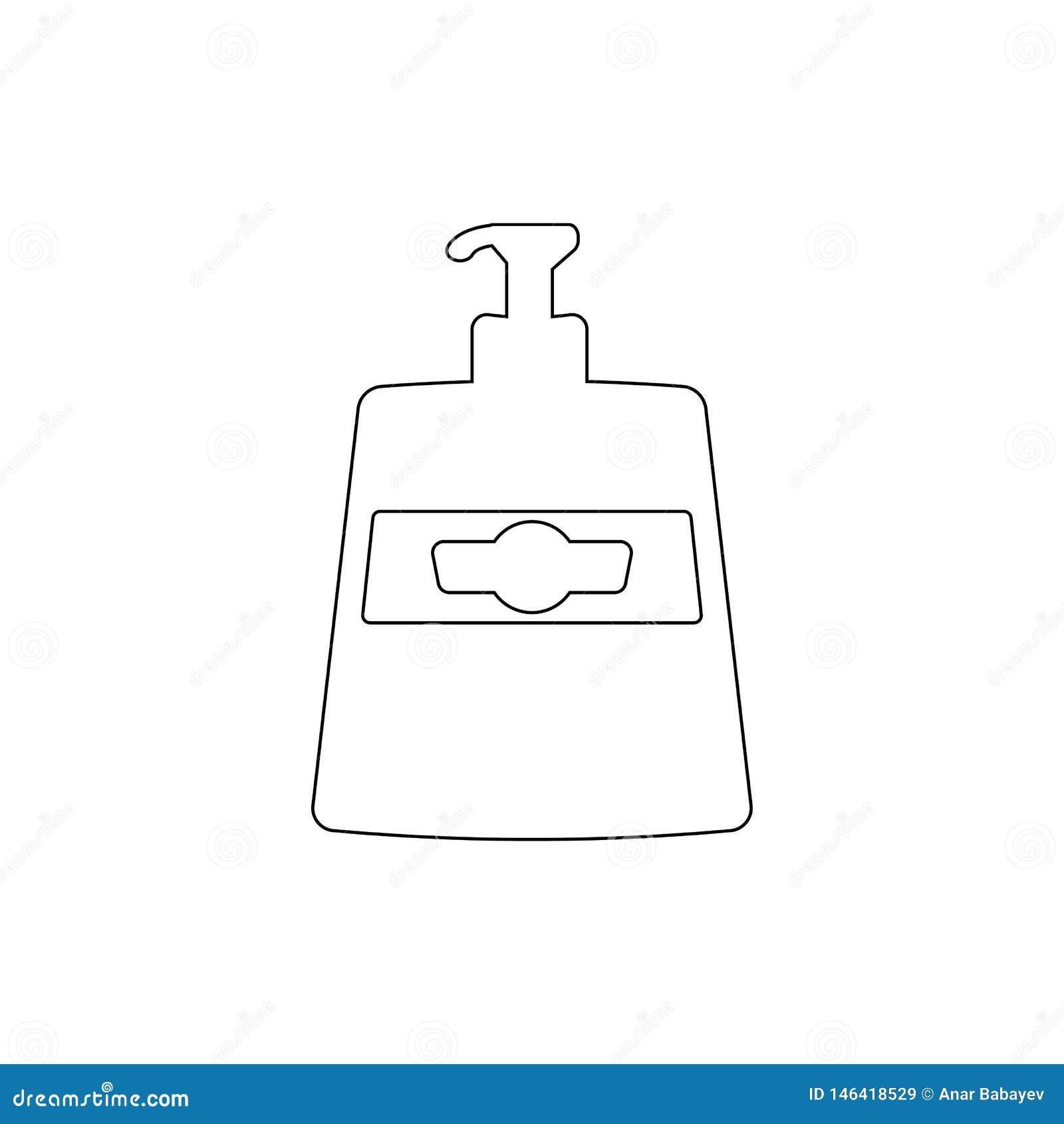 Icona del profilo del sapone liquido Icona dell elemento di sauna e del bagno Progettazione grafica di qualit? premio Segni, icon