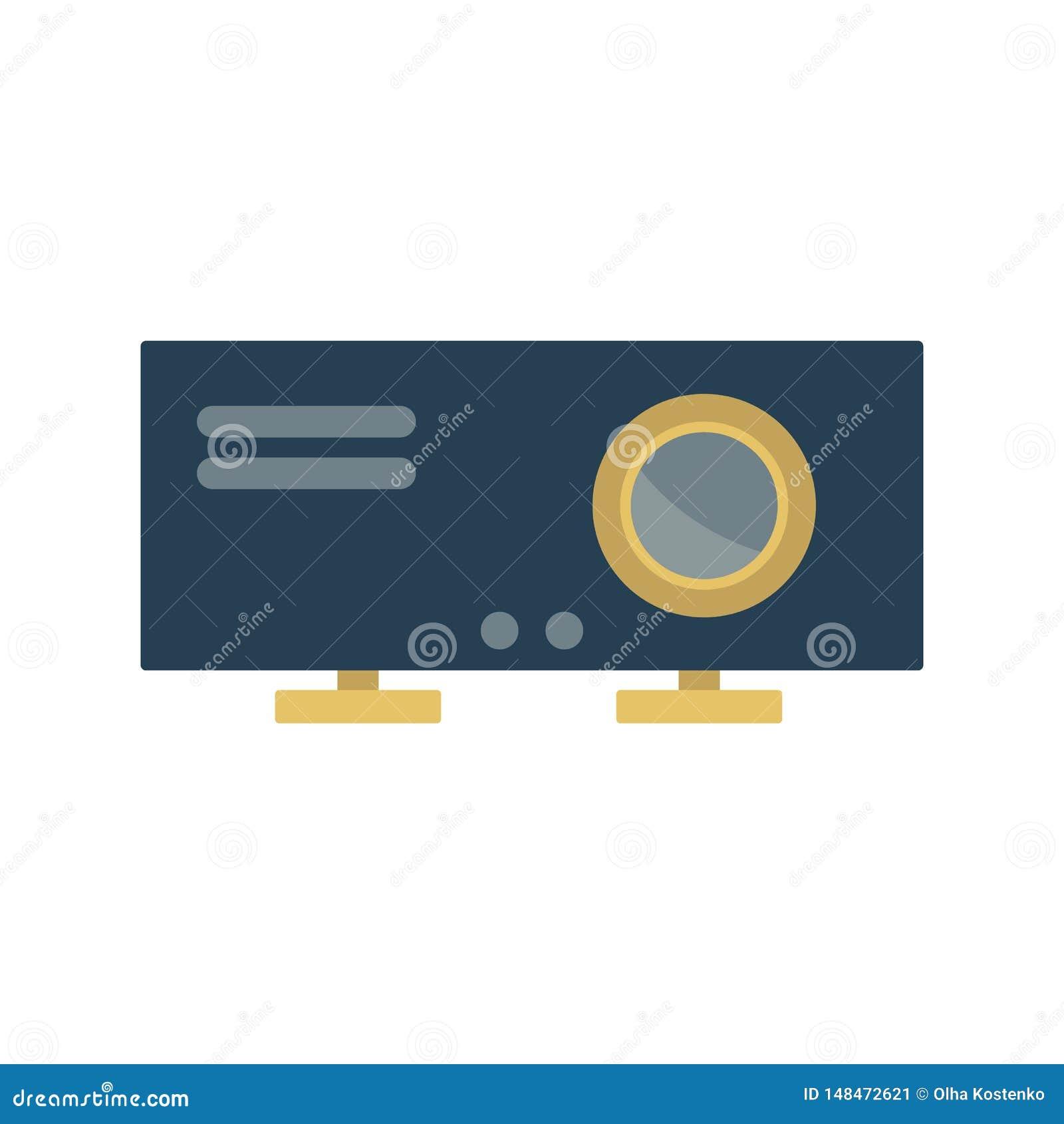 Icona del proiettore Elemento per progettazione